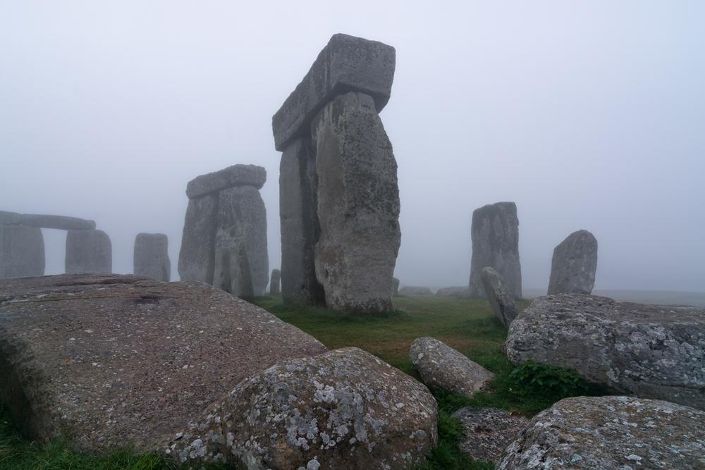 An undated photo published by the University of Birmingham, England, of Stonehenge