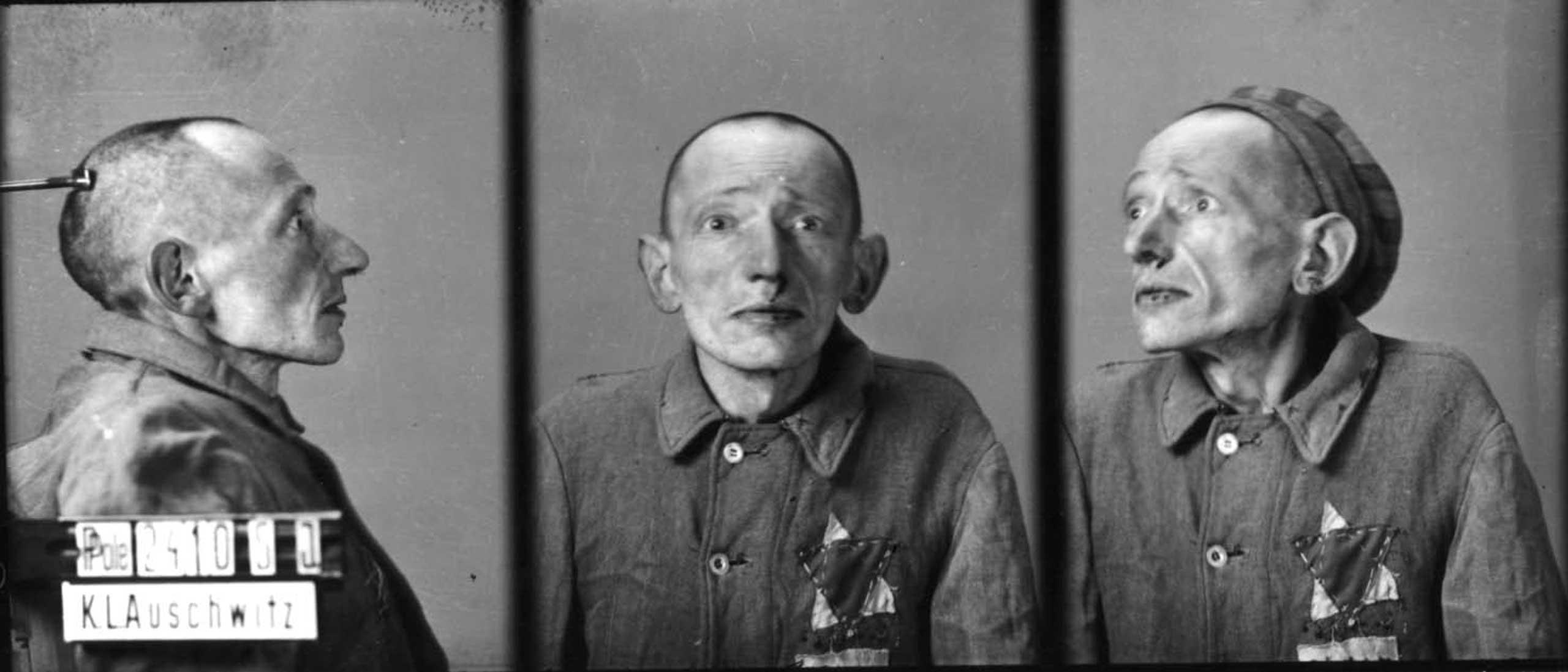 Prisoner no. 24105. at Auschwitz, Poland, c. 1940-45.