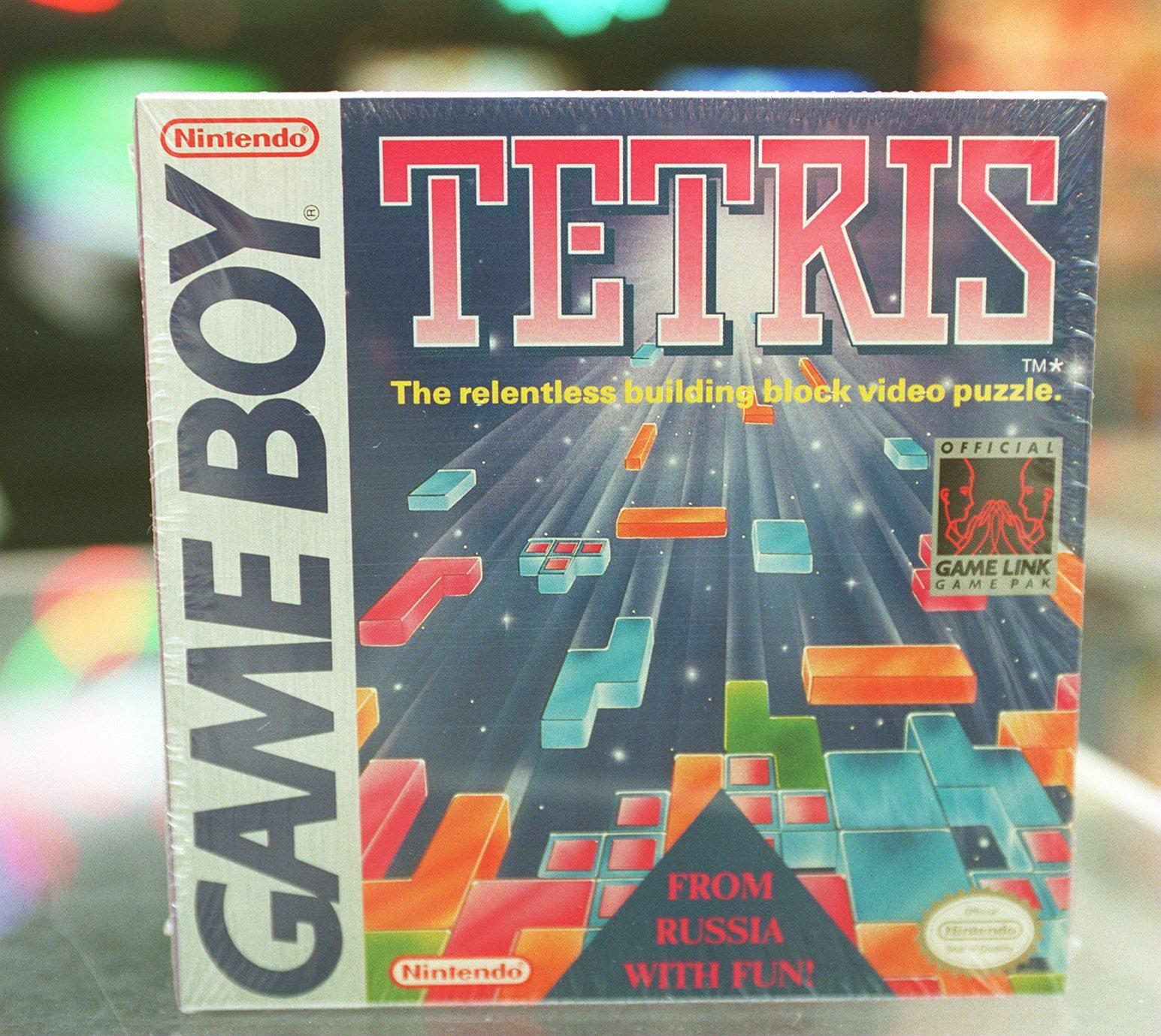 The cover of Nintendo Game Boy game,  Tetris.