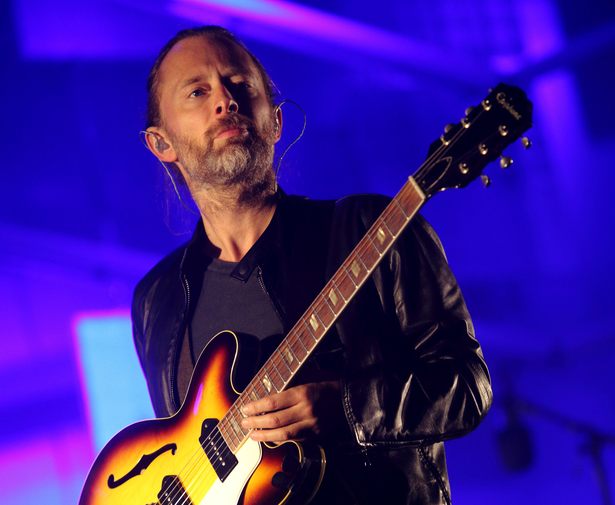 Thom Yorke performs at the 2013 Austin City Limits Music Festival in Austin on Oct. 6, 2013.