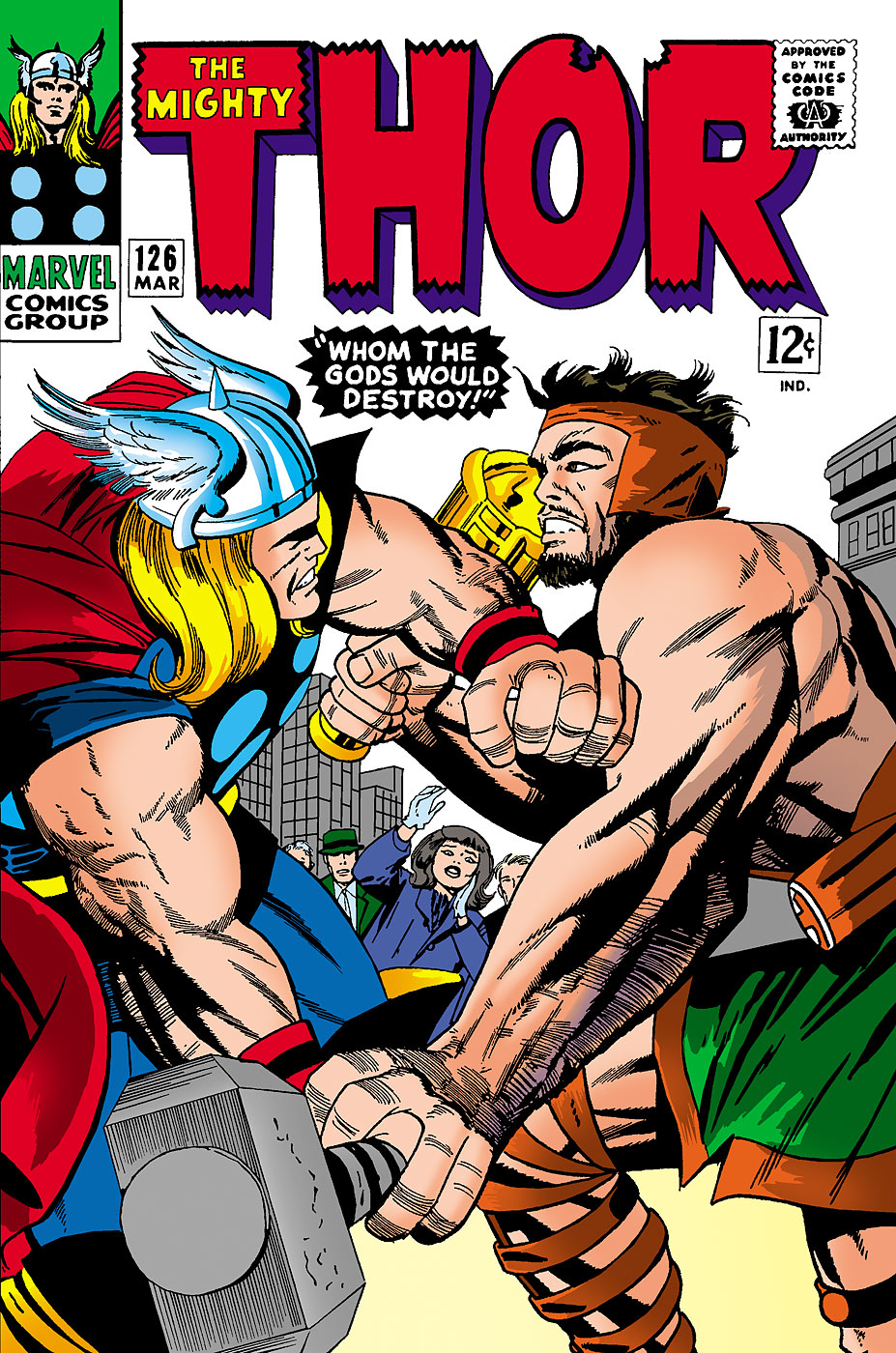 In 1966, the series <i>Journey into Mystery</i> where Thor originally debuted was retitled to <i>The Mighty Thor</i>, giving the hero his own eponymous comic.