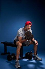 Republican vice-presidential candidate Paul Ryan was photographed demonstrating his workout technique at a gym in Janesville, Wis., for TIME in December 2011. This photo is featured in the Oct. 22, 2012, issue of TIME