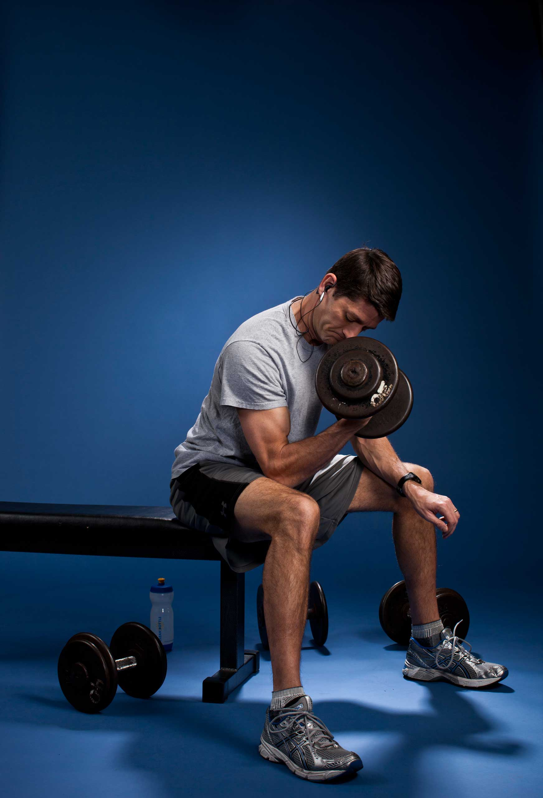 The P90X method involves changing routines often so muscles don't get accustomed to any one exercise