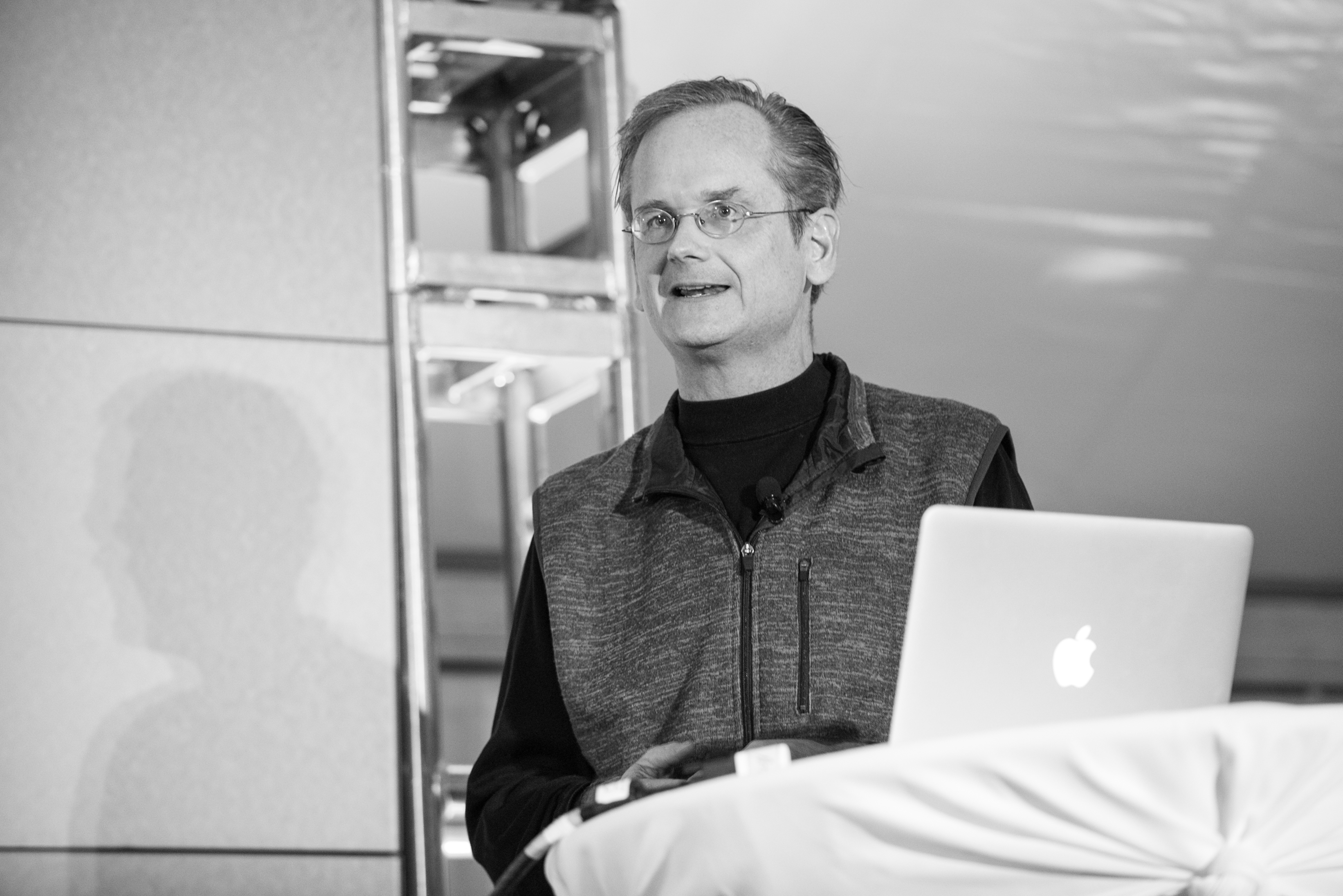 Larry Lessig speaks at the Nantucket project on September 26, 2014.