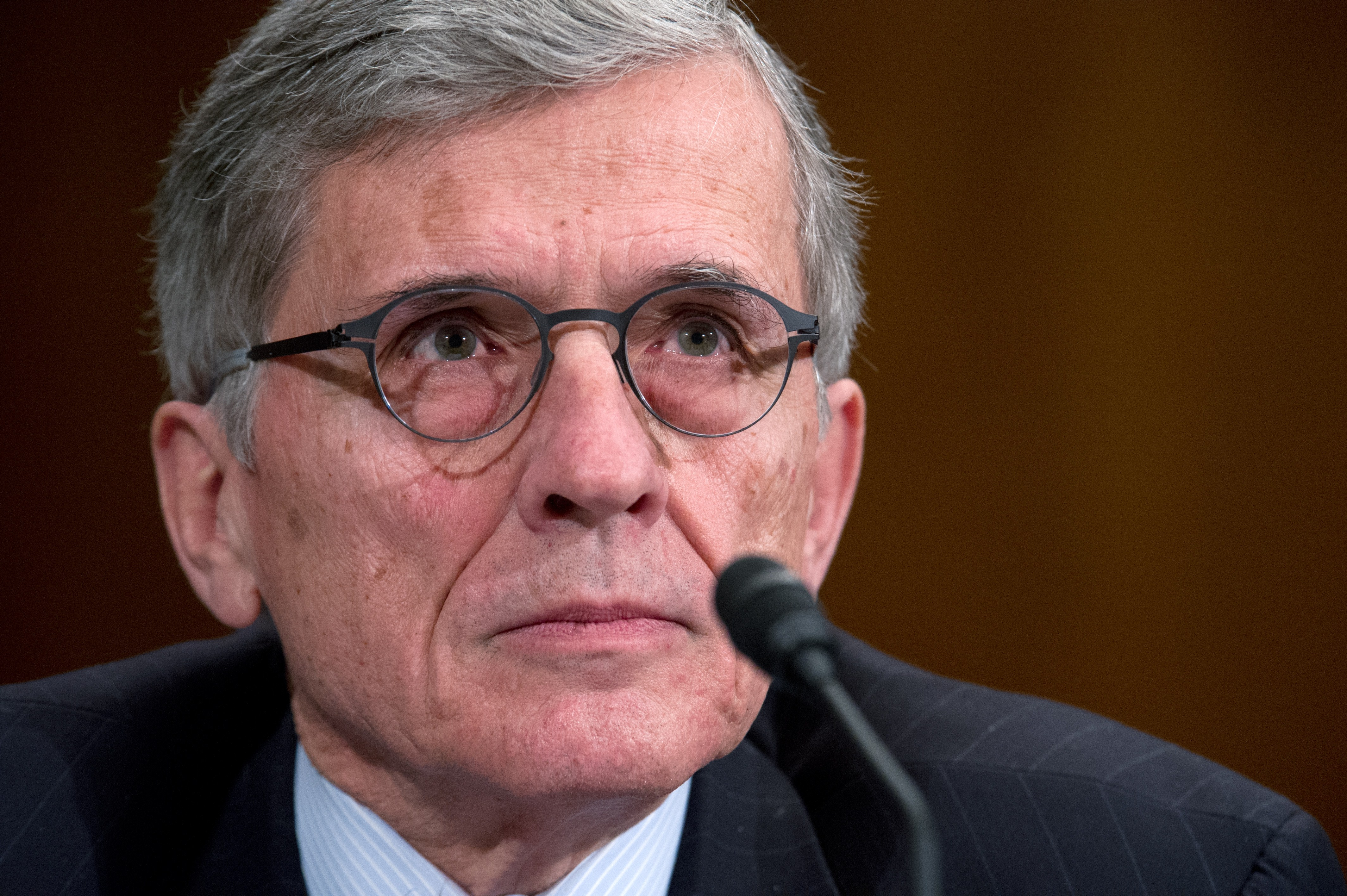 FCC Chairman Tom Wheeler gives testimony before the Financial Services and General Government Subcommittee hearing on  Review of the President's FY2015 funding request and budget justification for the Federal Communications Commission (FCC). on March 27, 2014 on Capitol Hill in Washington, D.C.