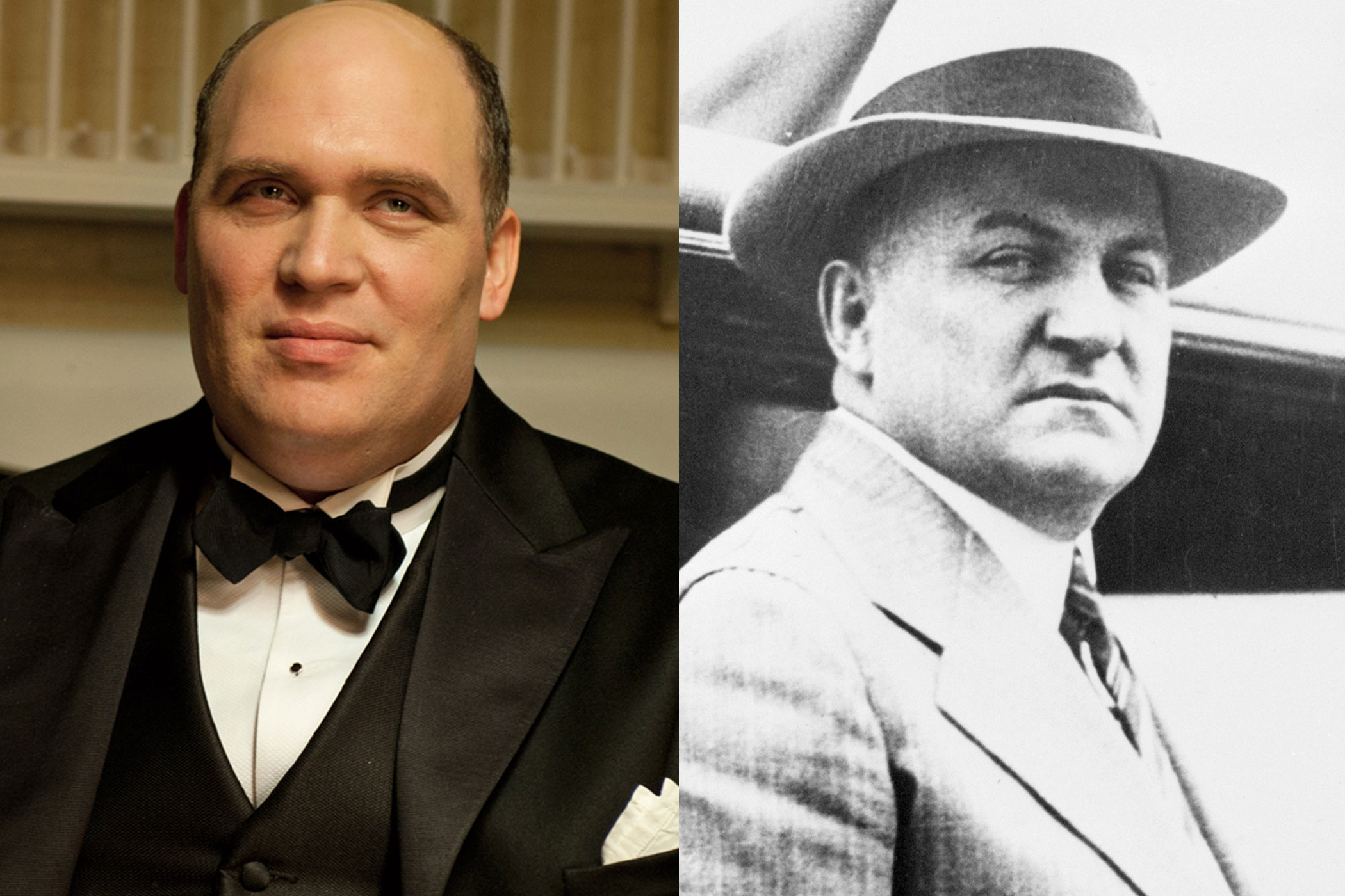 George Remus:                               Dead ringers for one another, Glenn Fleshler does a good job of portraying real-life George Remus. Remus was a pharmacist who later became a wealthy bootlegger after cashing in on demand for booze during Prohibition, for which he served two years at Atlanta's Federal Penitentiary.