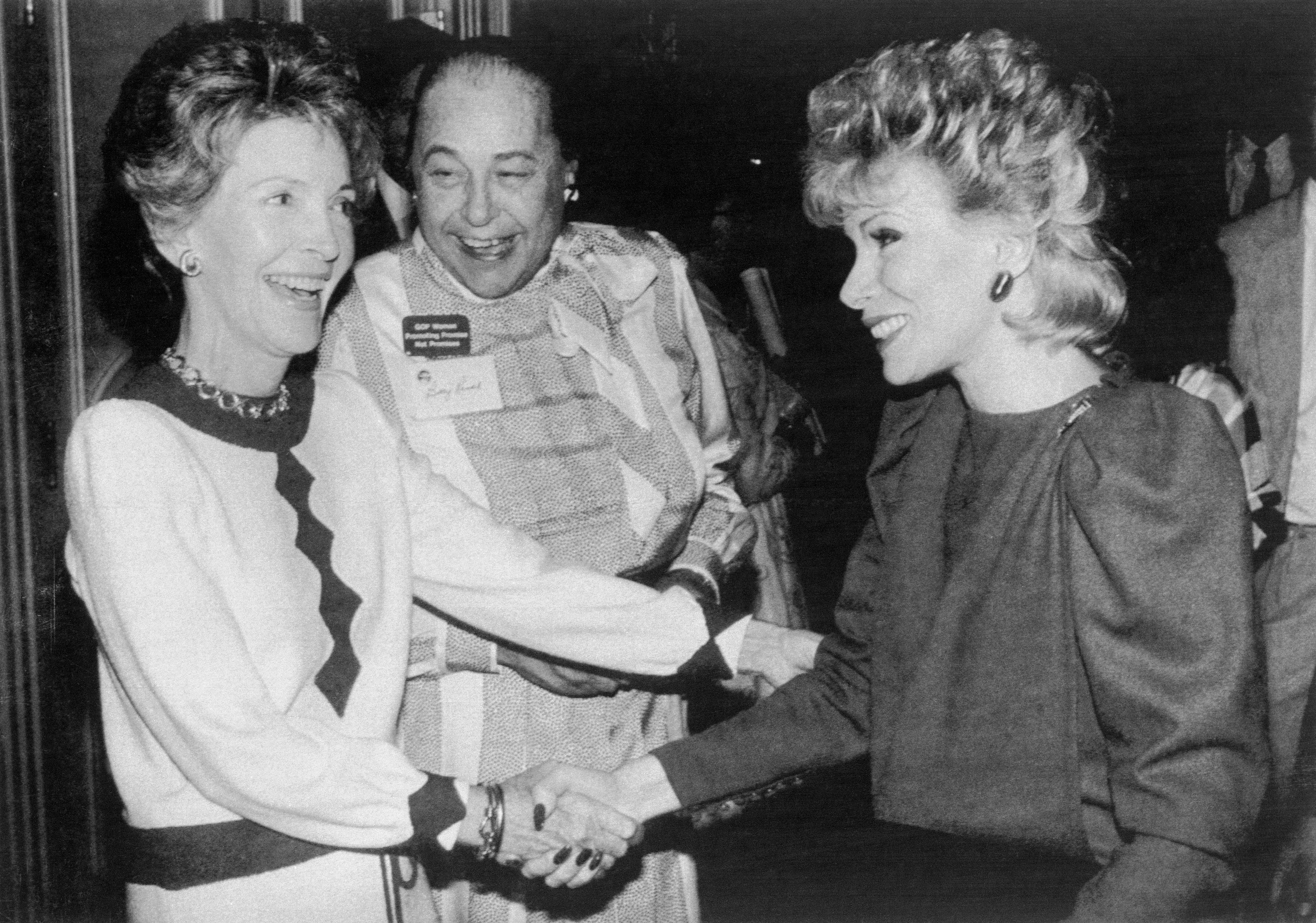 Rivers' celebrity gave her the opportunity to meet prominent figures in show business and politics, including Nancy Reagan in 1984.