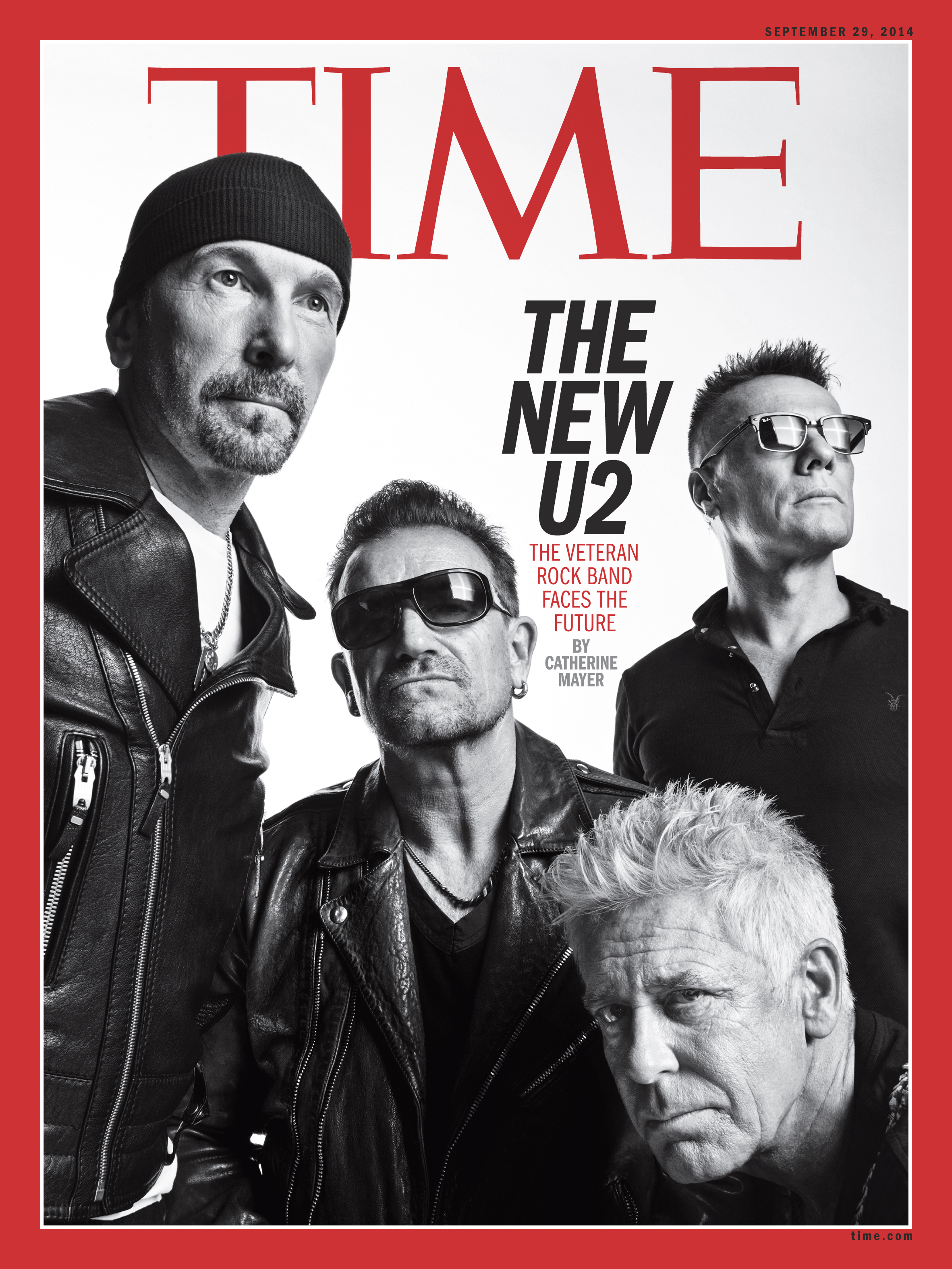 U2 on the cover of TIME's Sept. 29 International edition.