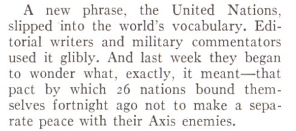 From the Jan. 19, 1942, issue of TIME