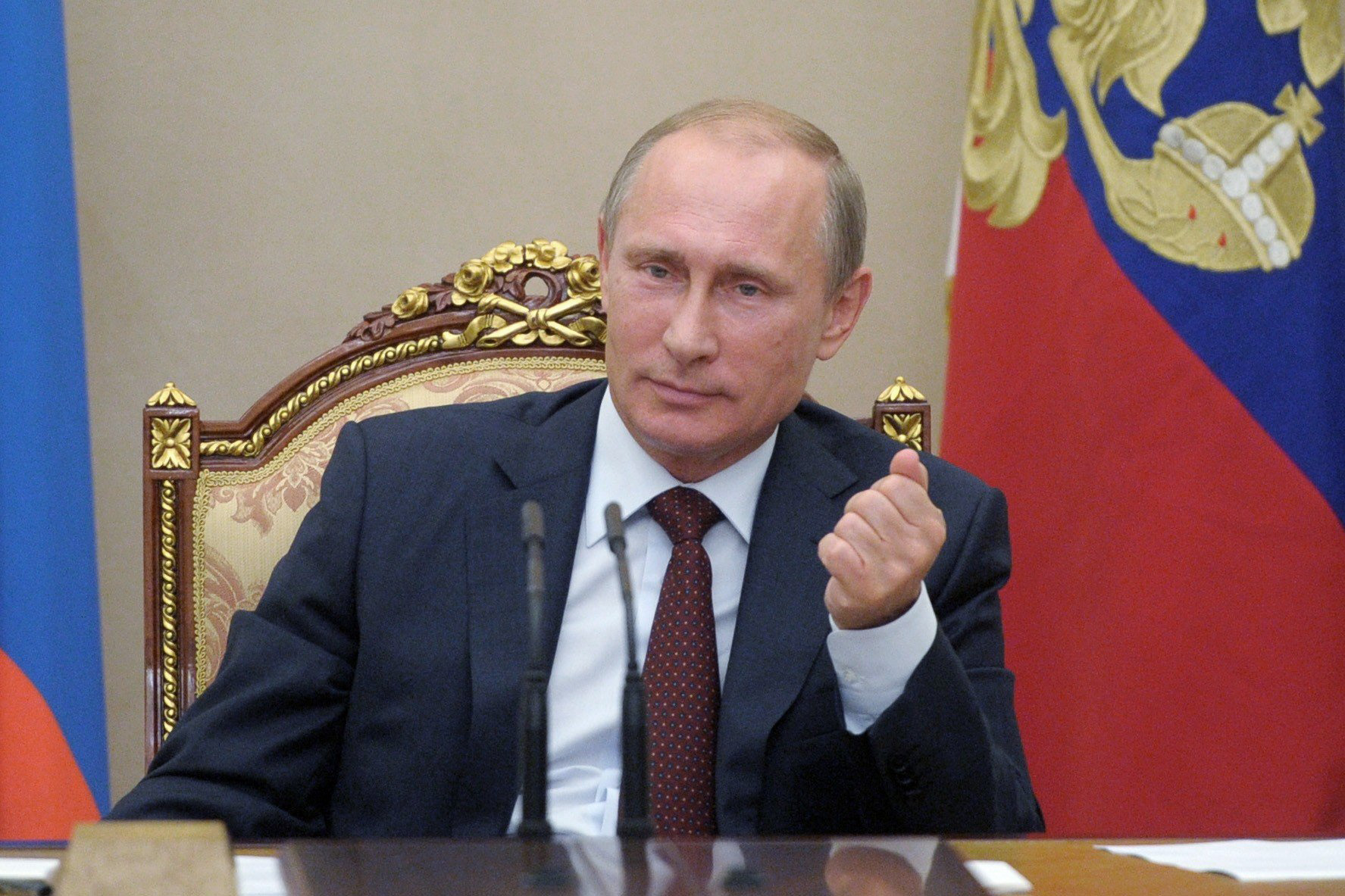 President Vladimir Putin during a government meeting in Moscow, Sept. 11, 2014.