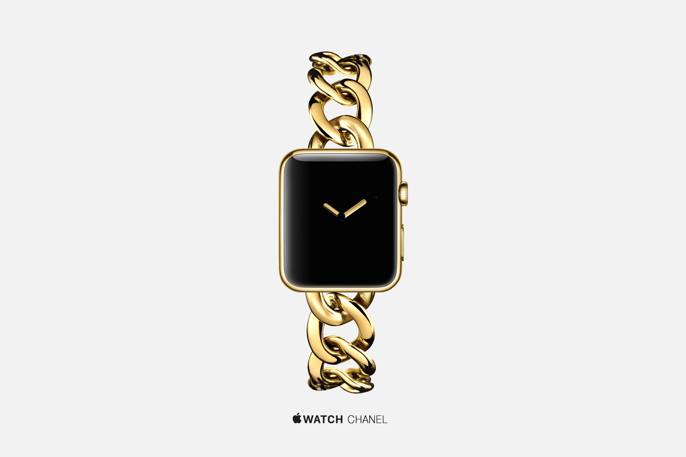 An artist's concept of an Apple Watch by Chanel.