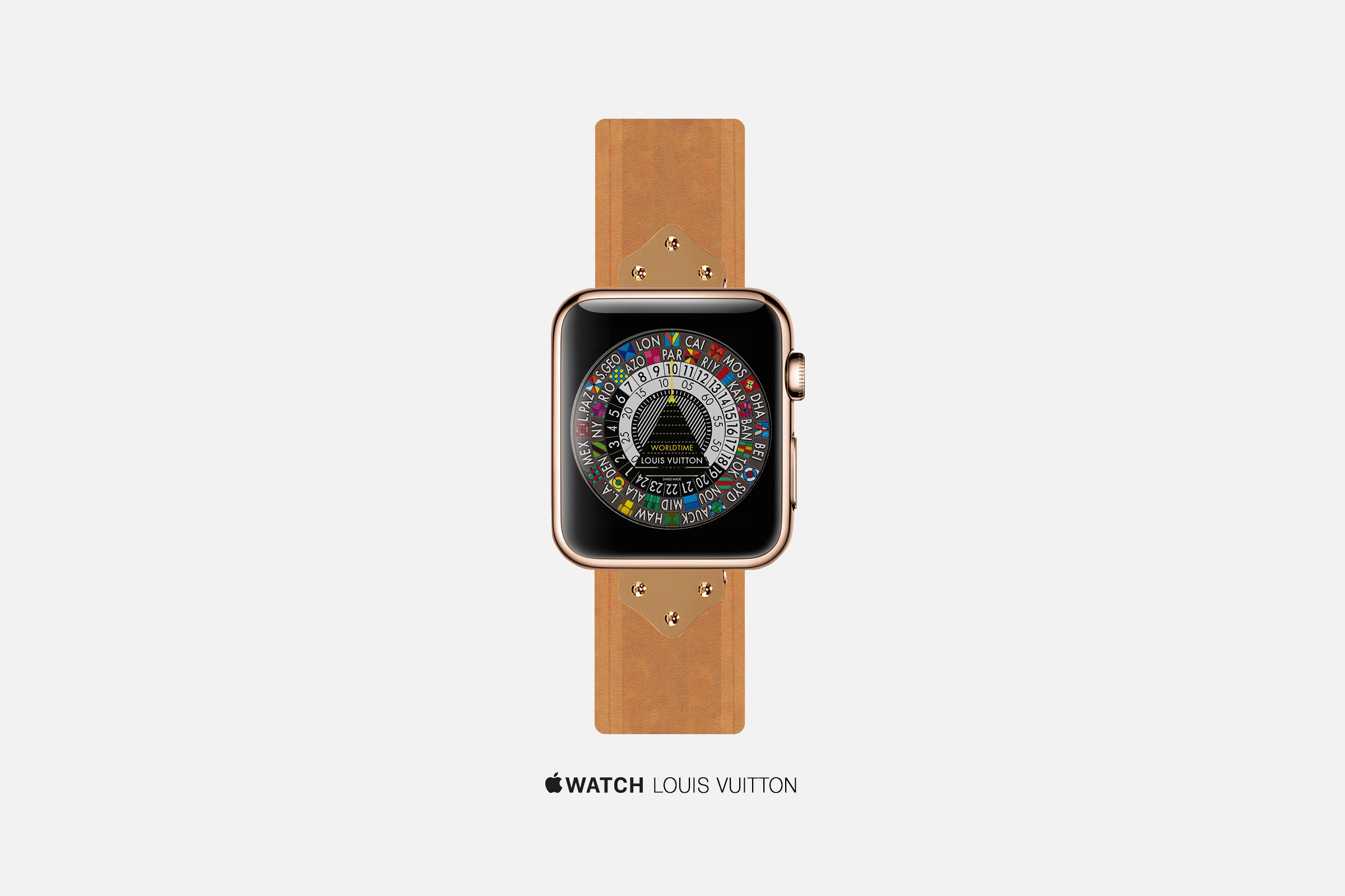 An artist's concept of an Apple Watch by Louis Vuitton.