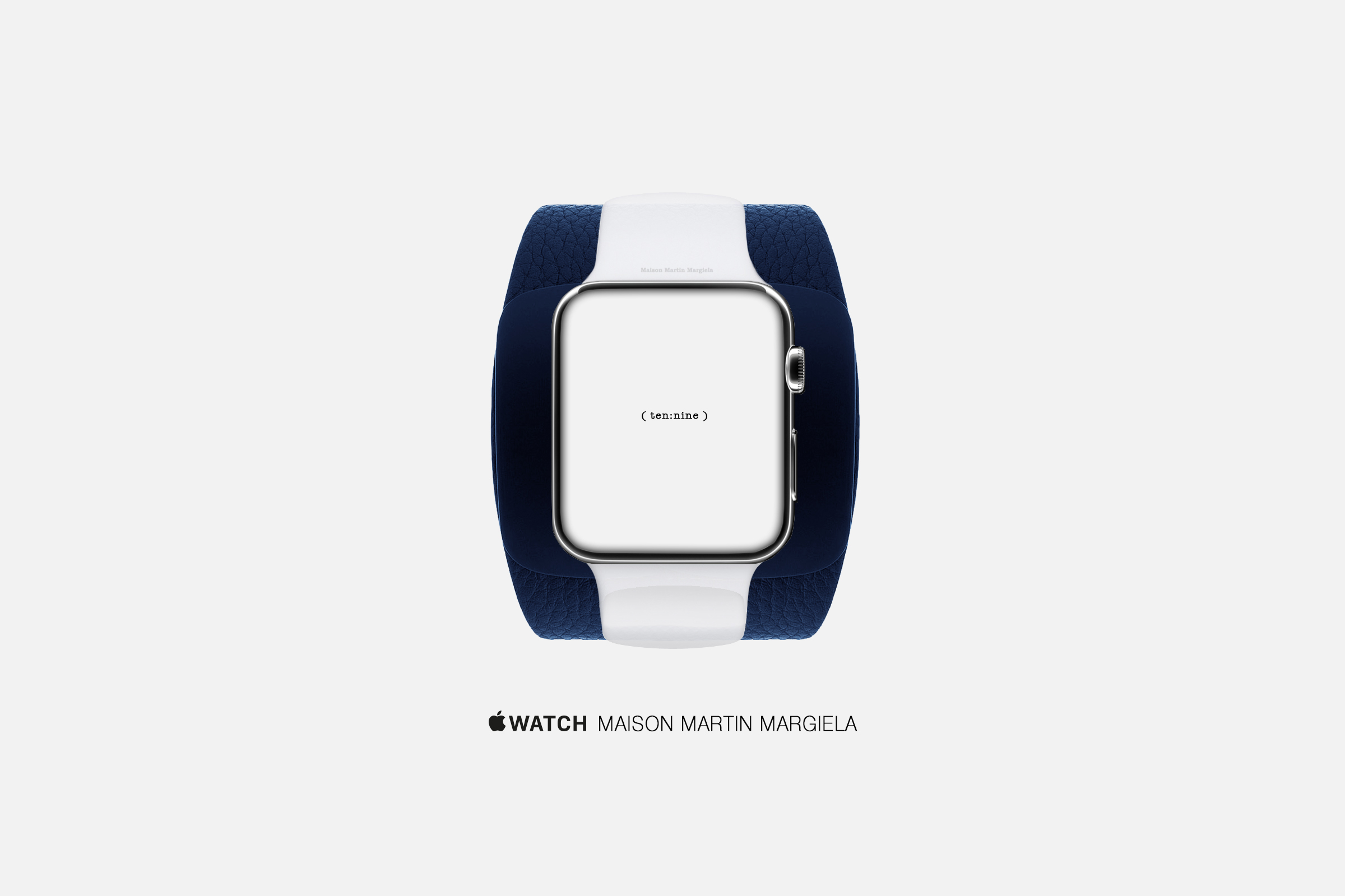 An artist's concept of an Apple Watch by Maison Martin Margiela.