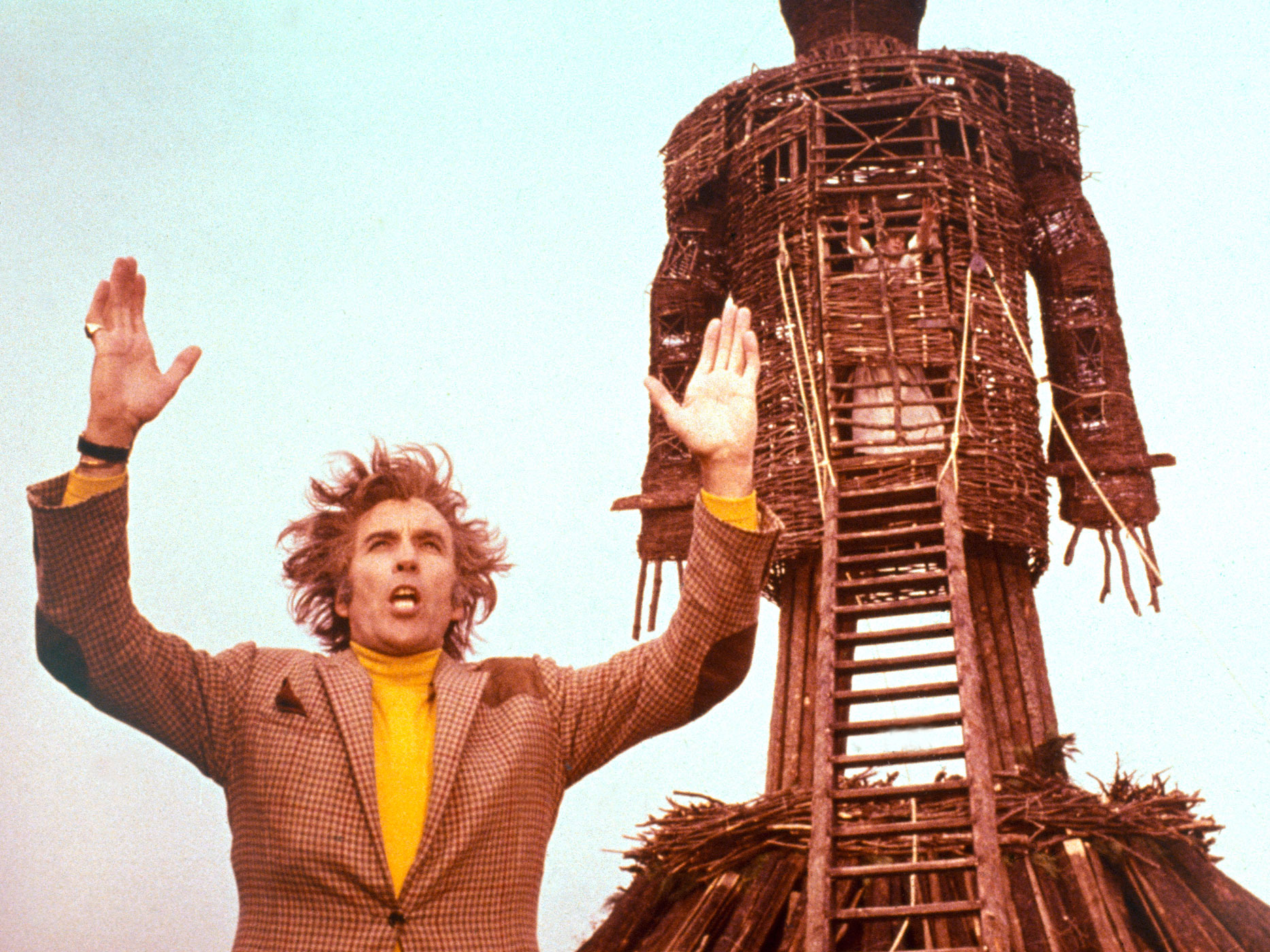 The Wicker Man, 1973. Paganism and human sacrifice flourish on the isolated Hebridean island of Summerisle, where the local lord (Christopher Lee) has May Day plans for a visiting detective (Edward Woodward). Scripted by Anthony Shaffer and directed by Robin Hardy, the movie inspired both the Iron Maiden song and the Wickerman music festival, held each July in Dundrennan.