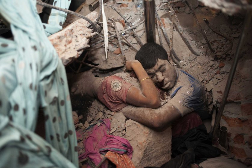3rd Prize Spot New Singles. 25 April 2013, Dhaka, Bangladesh. Victims of garment factory collapse.