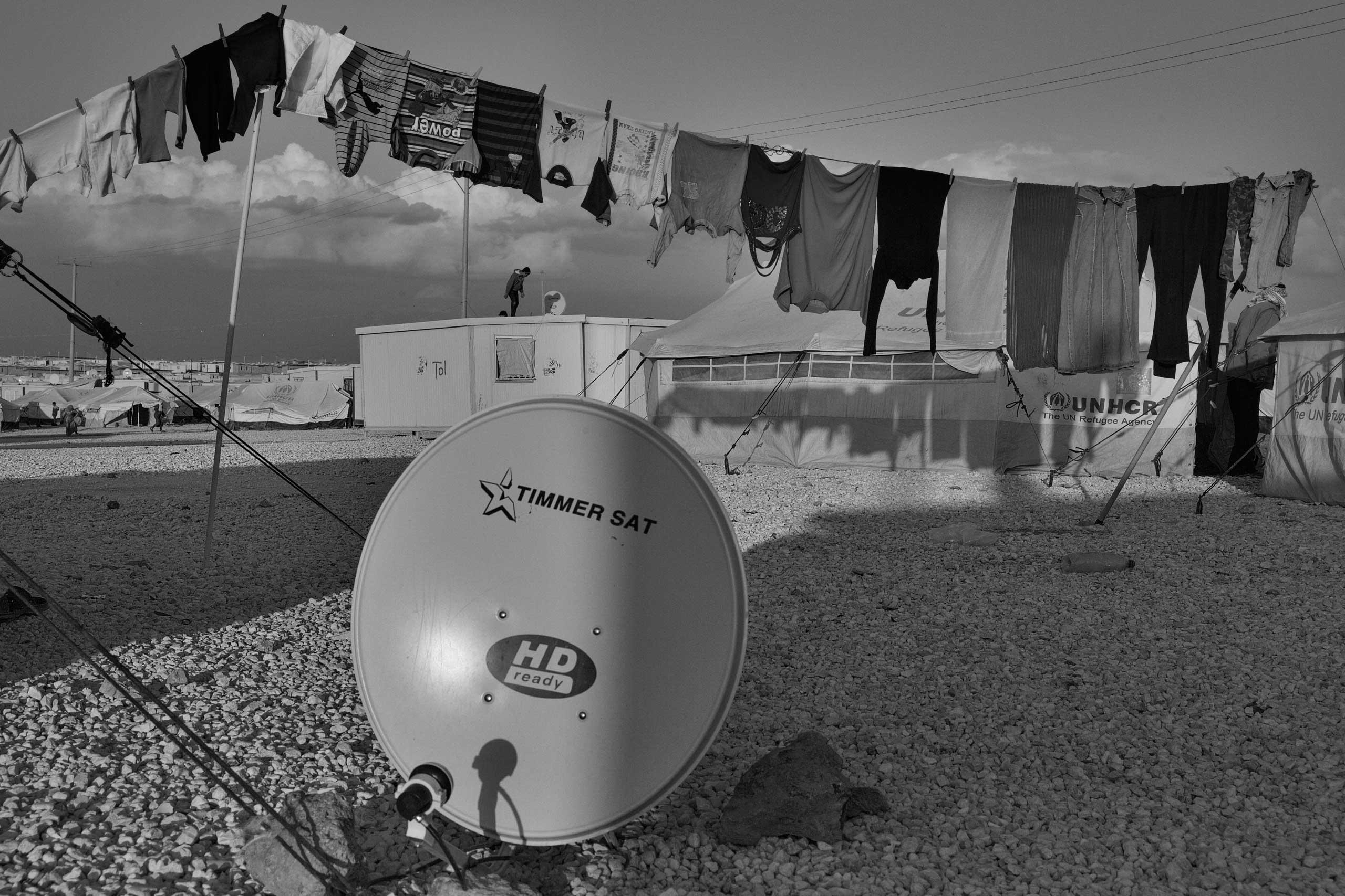 December 2013. Za'atari refugee camp, Jordan. A view of the camp.