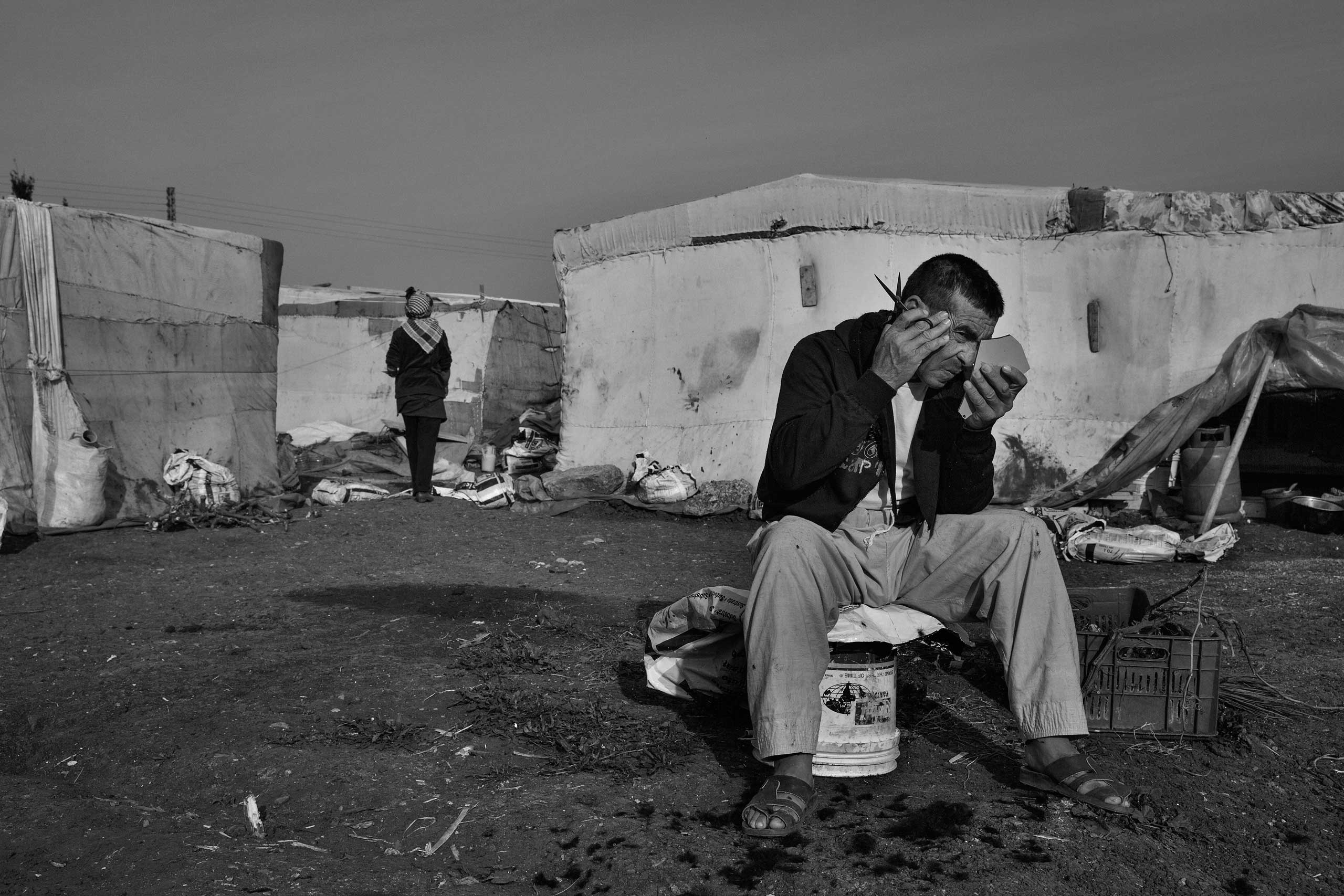 January 2014. Northern Lebanon, near the Syrian border. Syrian refugees in Lebanon's informal settlements.