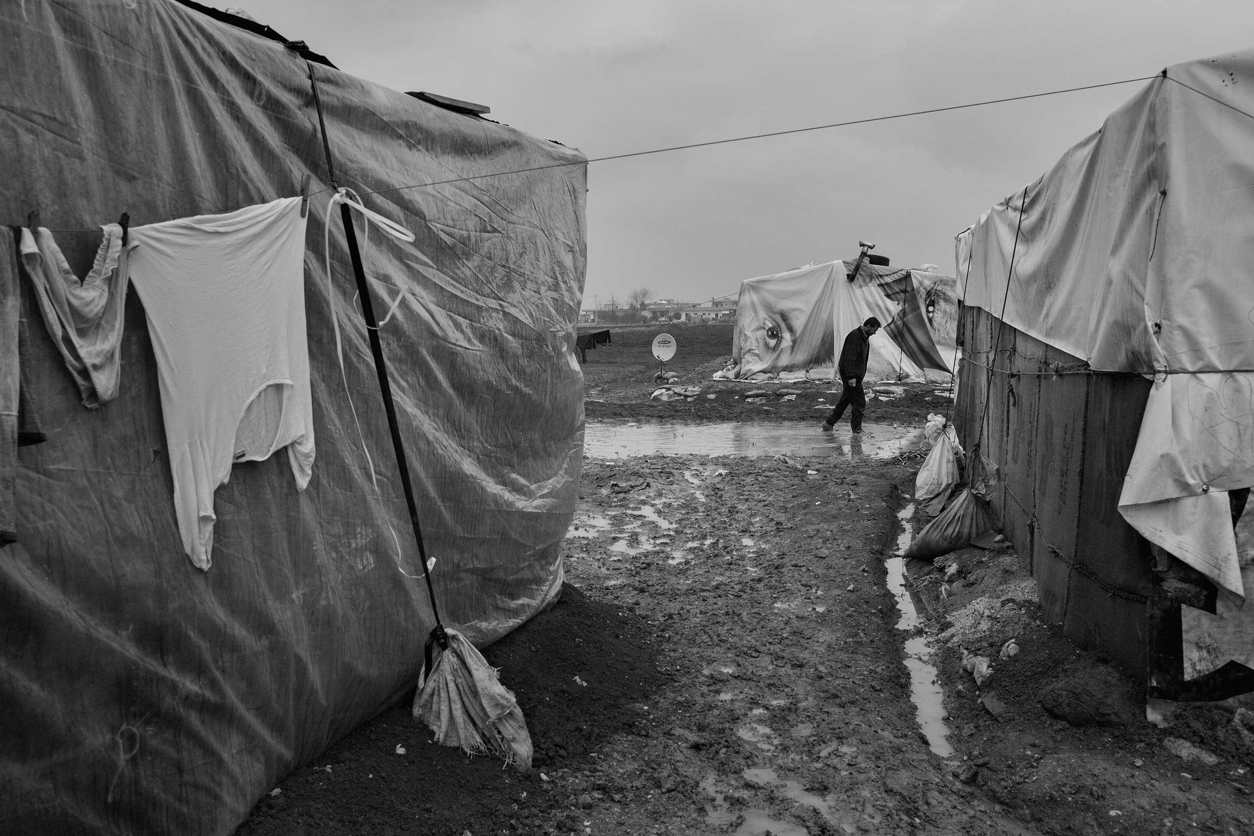January 2014. Bekaa Valley, Lebanon. Syrian refugees in Lebanon's informal settlements.