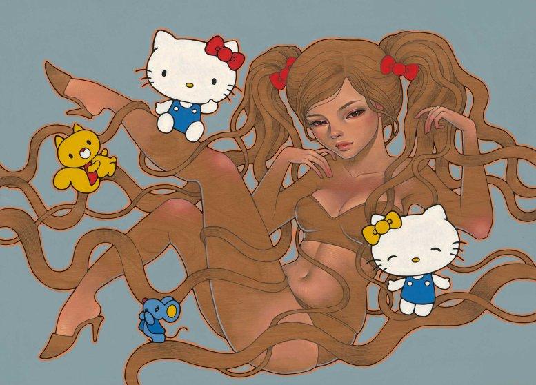 'Hi Kitty ' by Audrey Kawasaki