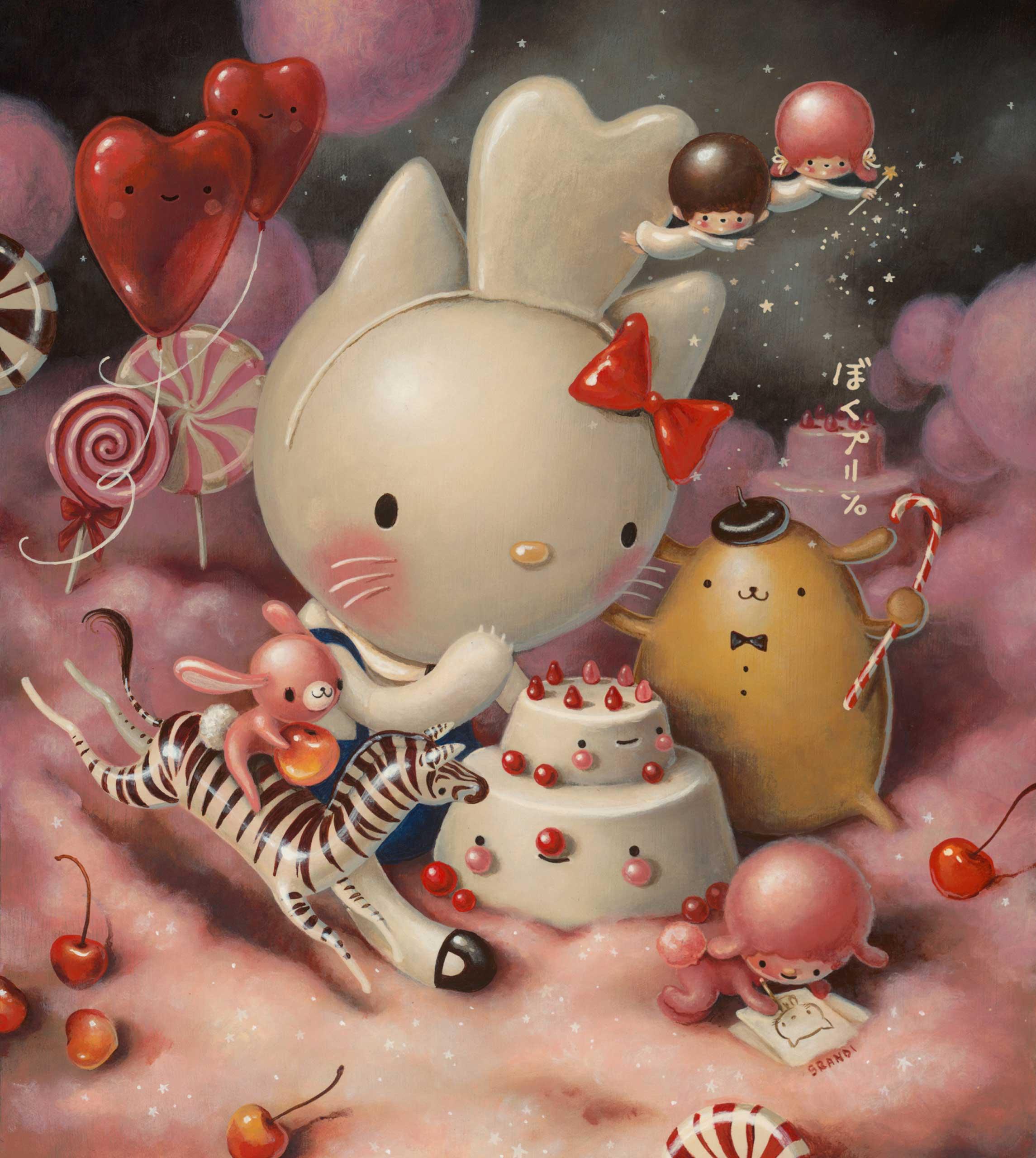 'Eat Cakes, You Kitty' by Brandi Milne