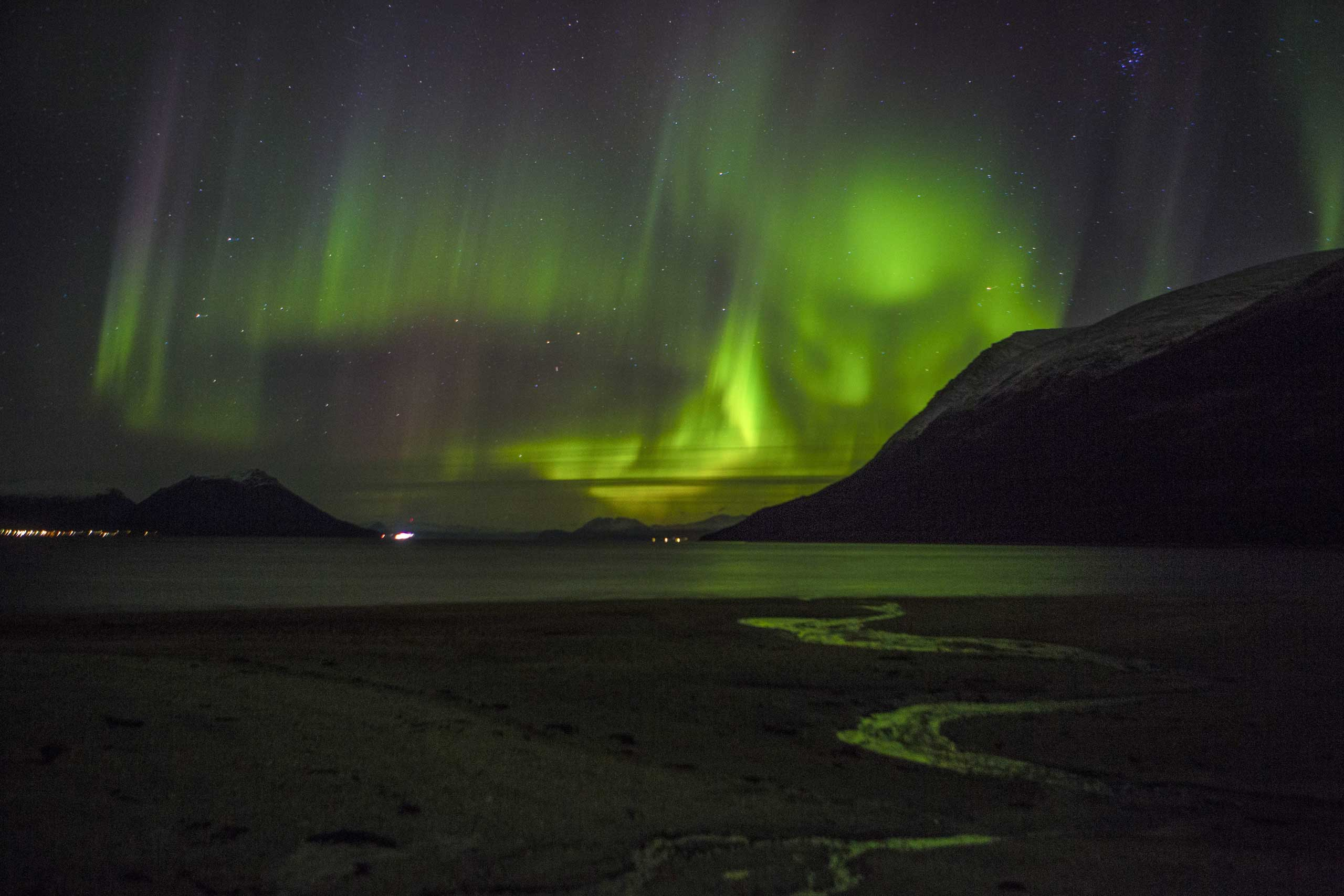 Oct. 21, 2014. A Northern light (Aurora borelias) can bee seen outside the city of Tromso in Northern Norway.