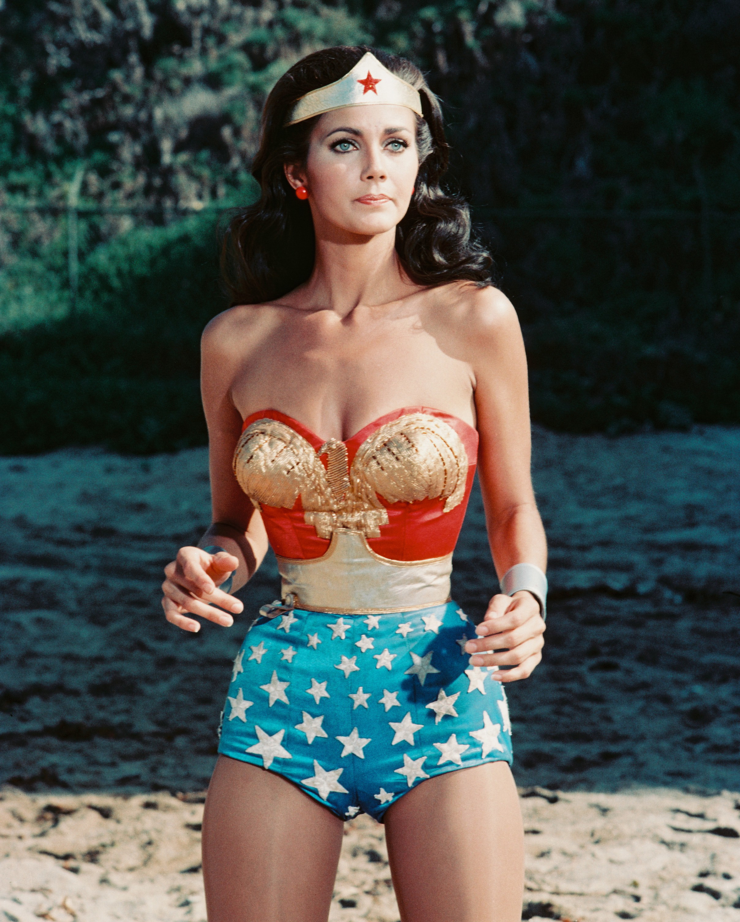 Lynda Carter in a publicity still issue for 'Wonder Woman', circa 1977