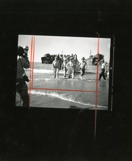A contact sheet showing a crop of the famous picture.