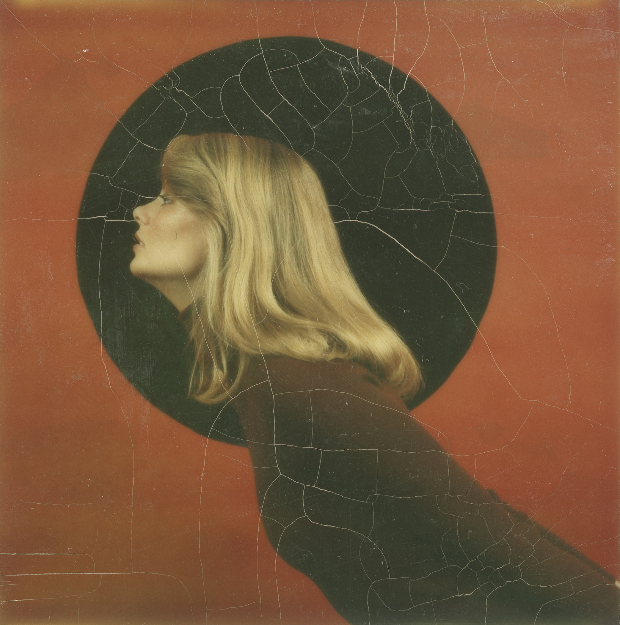 Portrait of a fashion model, made with a Polaroid SX-70 camera, 1972.
