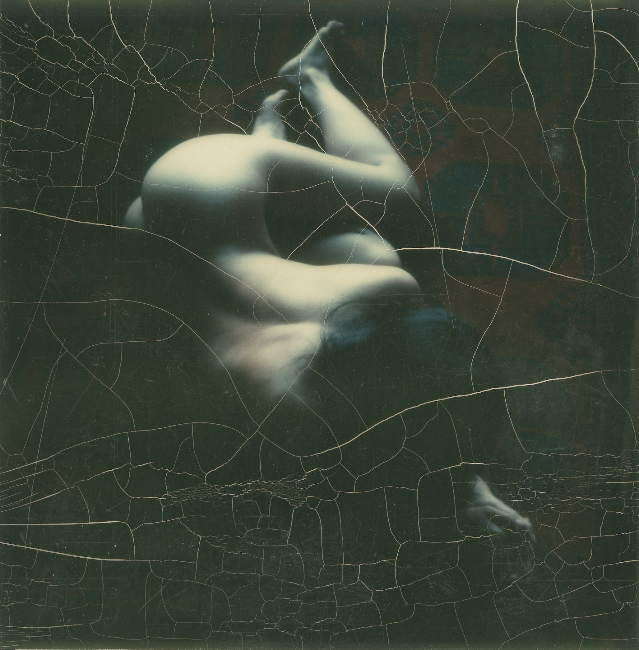 Nude photographed with a Polaroid SX-70 camera, 1972.