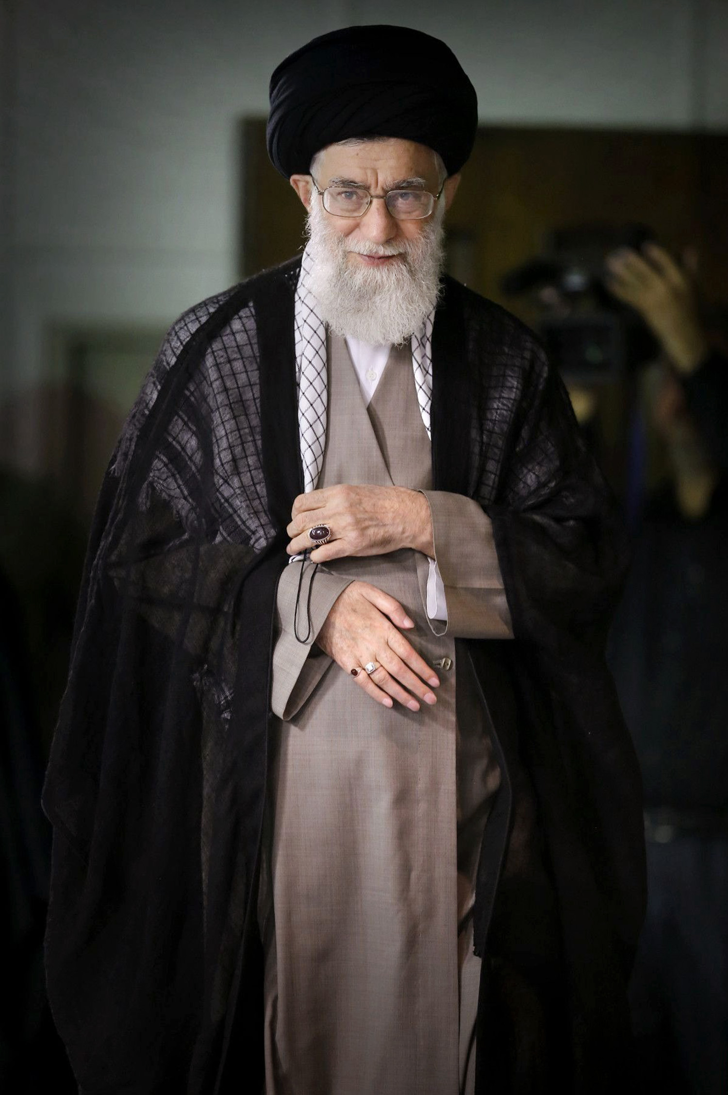 Ultimate authority Khamenei, in Tehran, remains staunchly anti-American