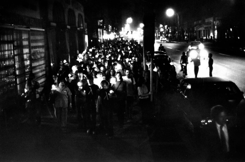 In commemoration of the 1969 Stonewall riots in Greenwich Village, militants this year designated the last week in June as Gay Liberation Week and celebrated with a candlelight parade. The parade involved 300 male and female homosexuals, who marched without incident two miles from Gay Activists headquarters to a park near City Hall.