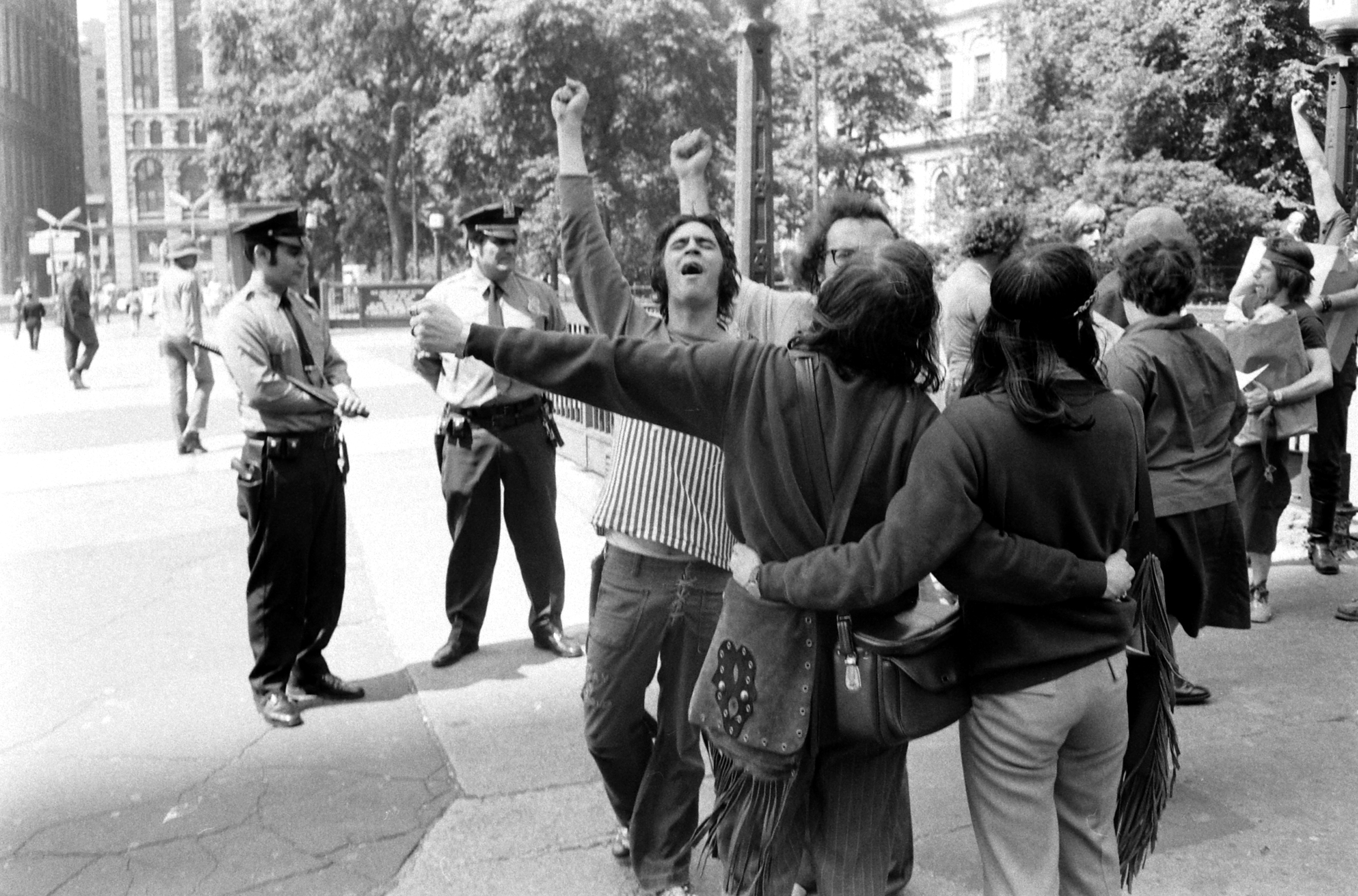 Gay rights protest, New York, 1971.
