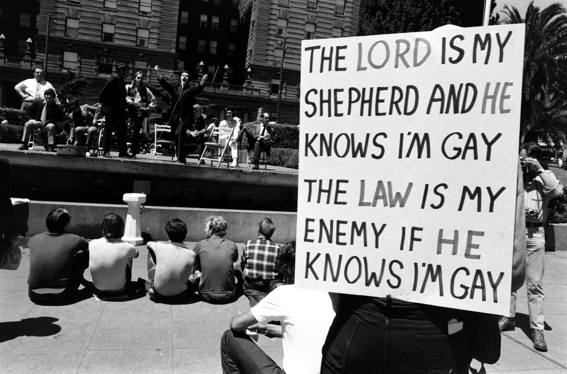 Gay rights rally, 1971.