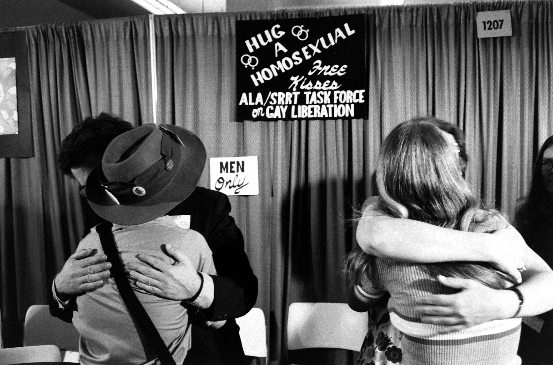 Gay rights event, 1971.