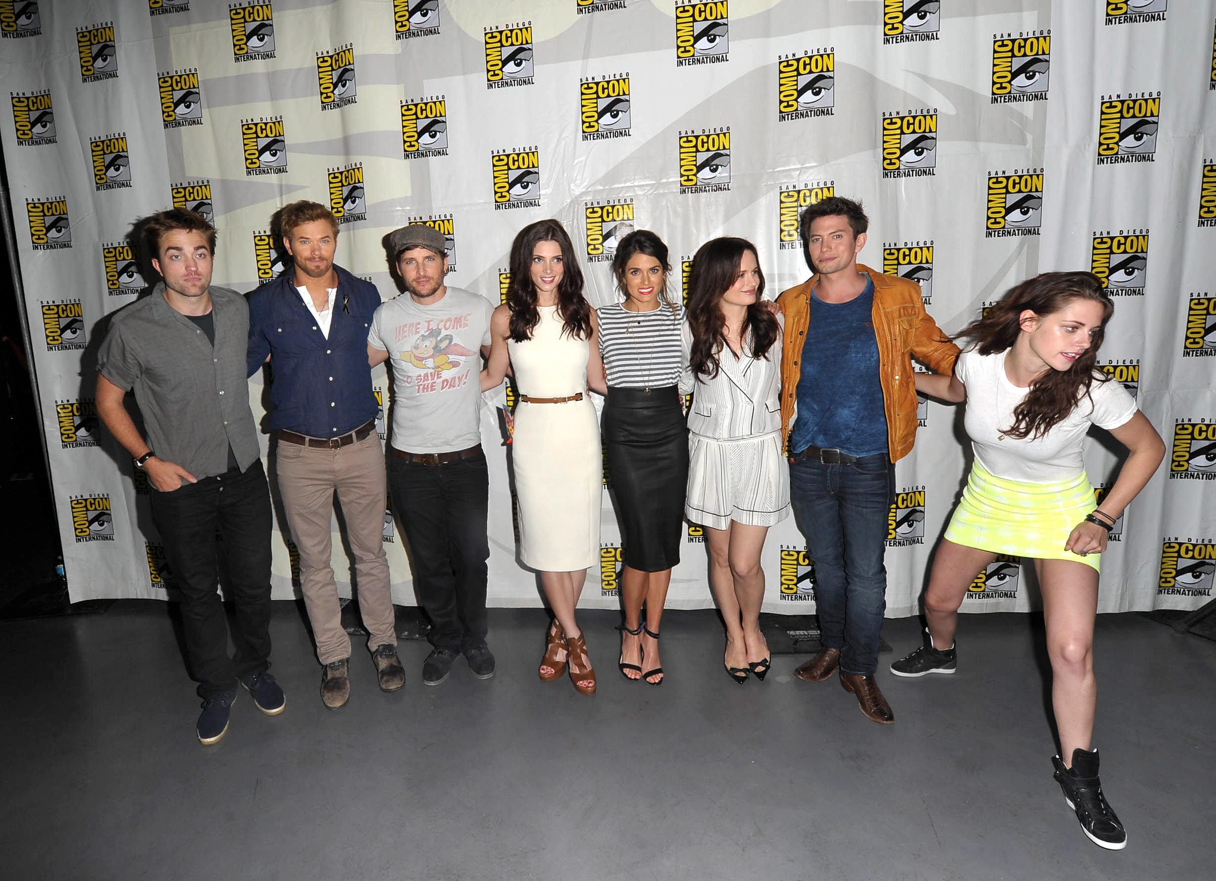 The cast of The Twilight Saga: Breaking Dawn participate in Comic-Con International in San Diego on July 12, 2012