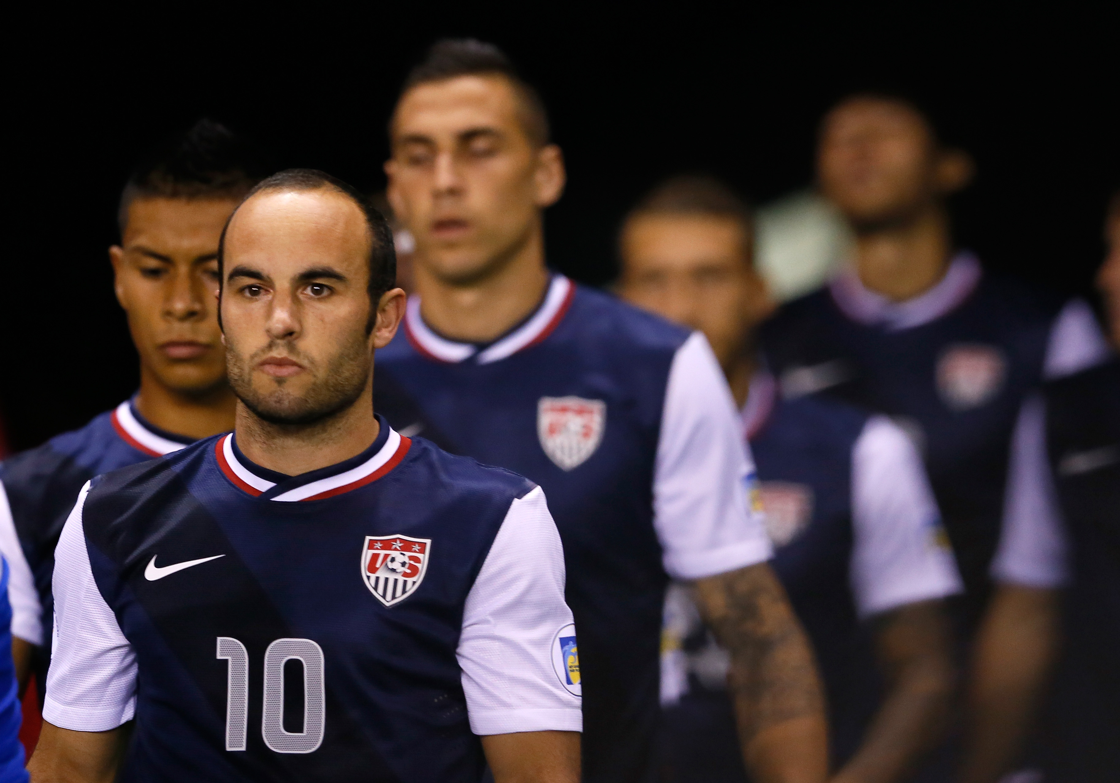 Landon Donovon prepares to play against Costa Rica during the 2014 World Cup Qualifier at Estadio Nacional on Sept. 6, 2013 in San Jose, Costa Rica.