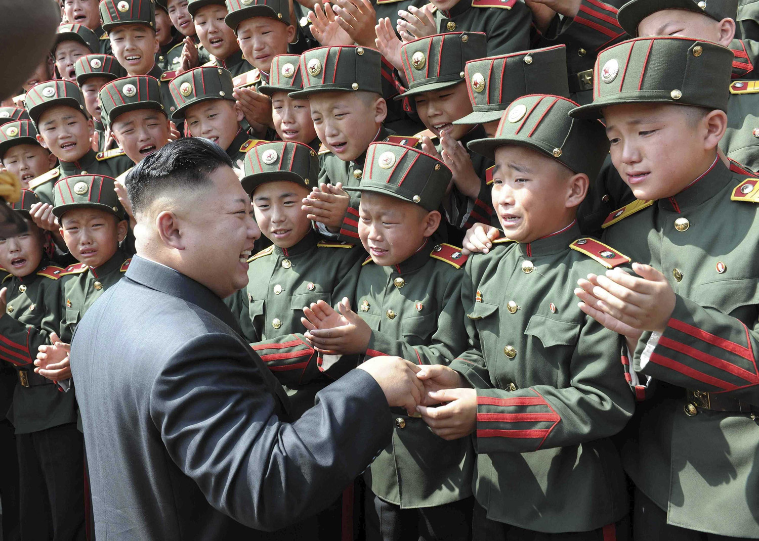 North Korean leader Kim Jong Un visits Mangyongdae Revolutionary School on the occasion of the 68th anniversary of the founding of the Korean Children's Union (KCU) in this undated photo released by North Korea's Korean Central News Agency (KCNA) in Pyongyang June 7, 2014.