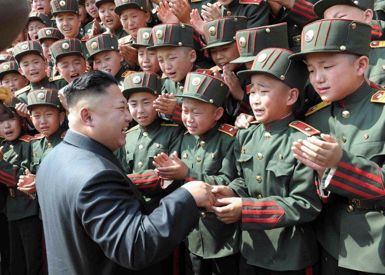 North Korean leader Kim Jong Un visits Mangyongdae Revolutionary School