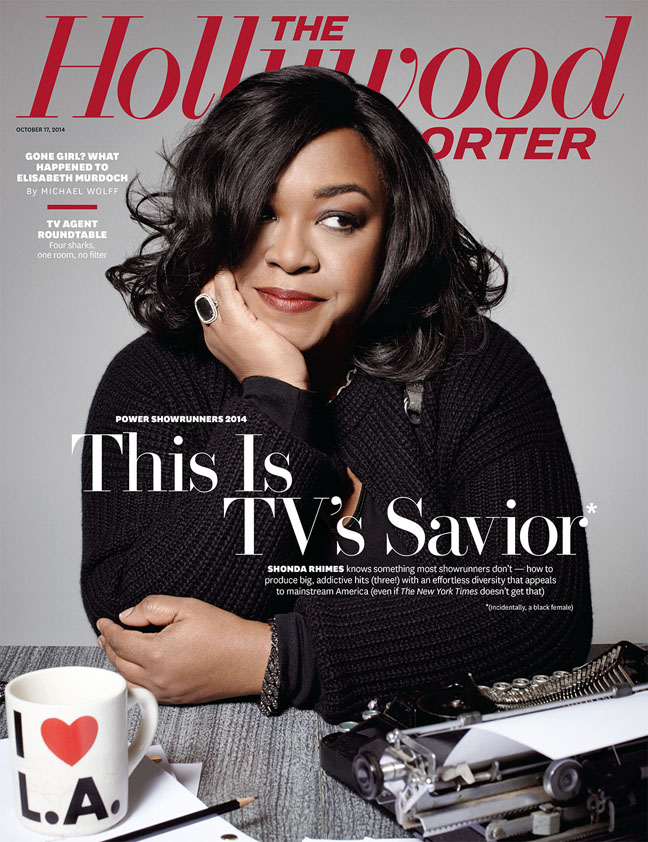 Shonda Rhimes on the cover of the Oct. 17 Hollywood Reporter