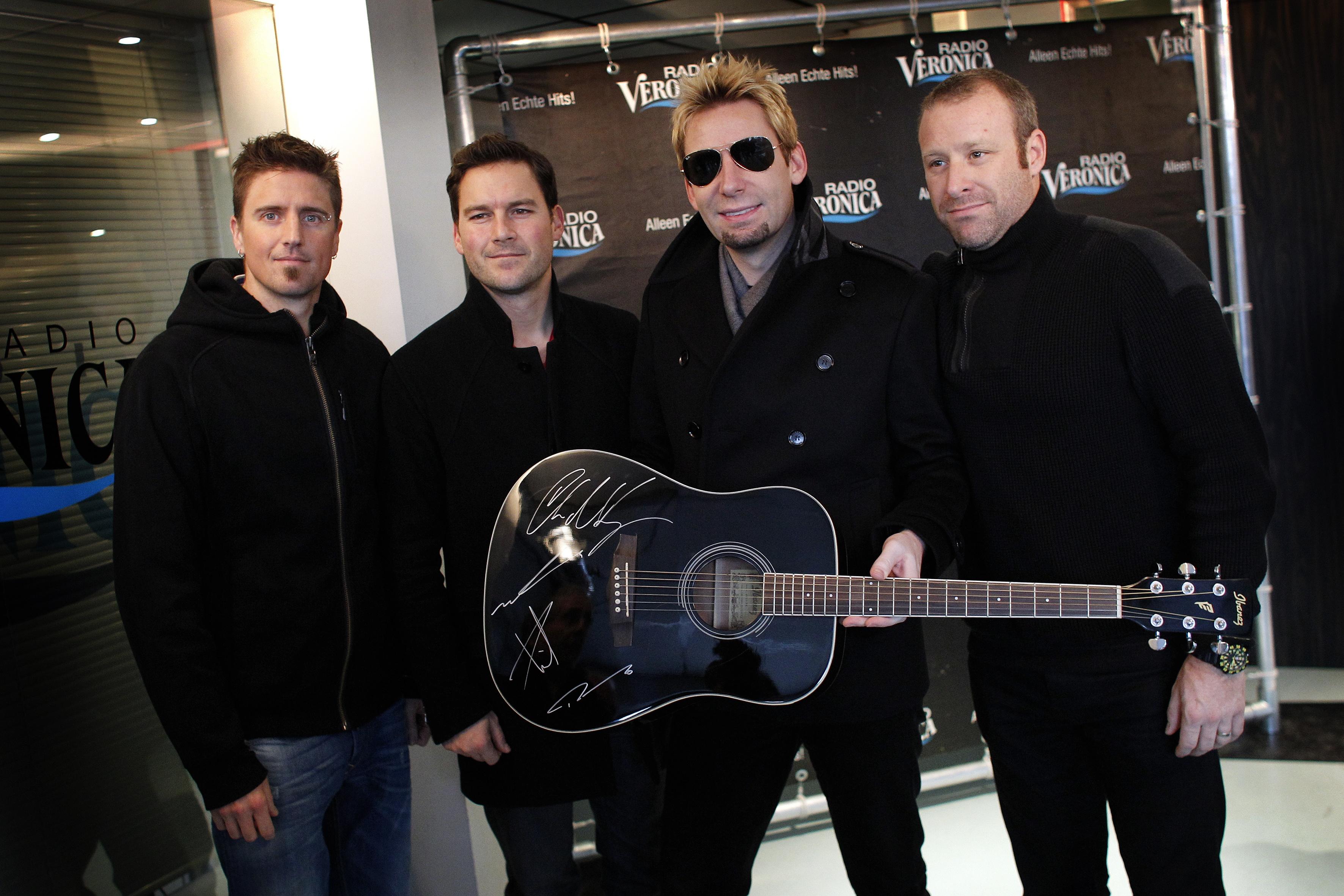 Members of Canadian rock band Nickelback
