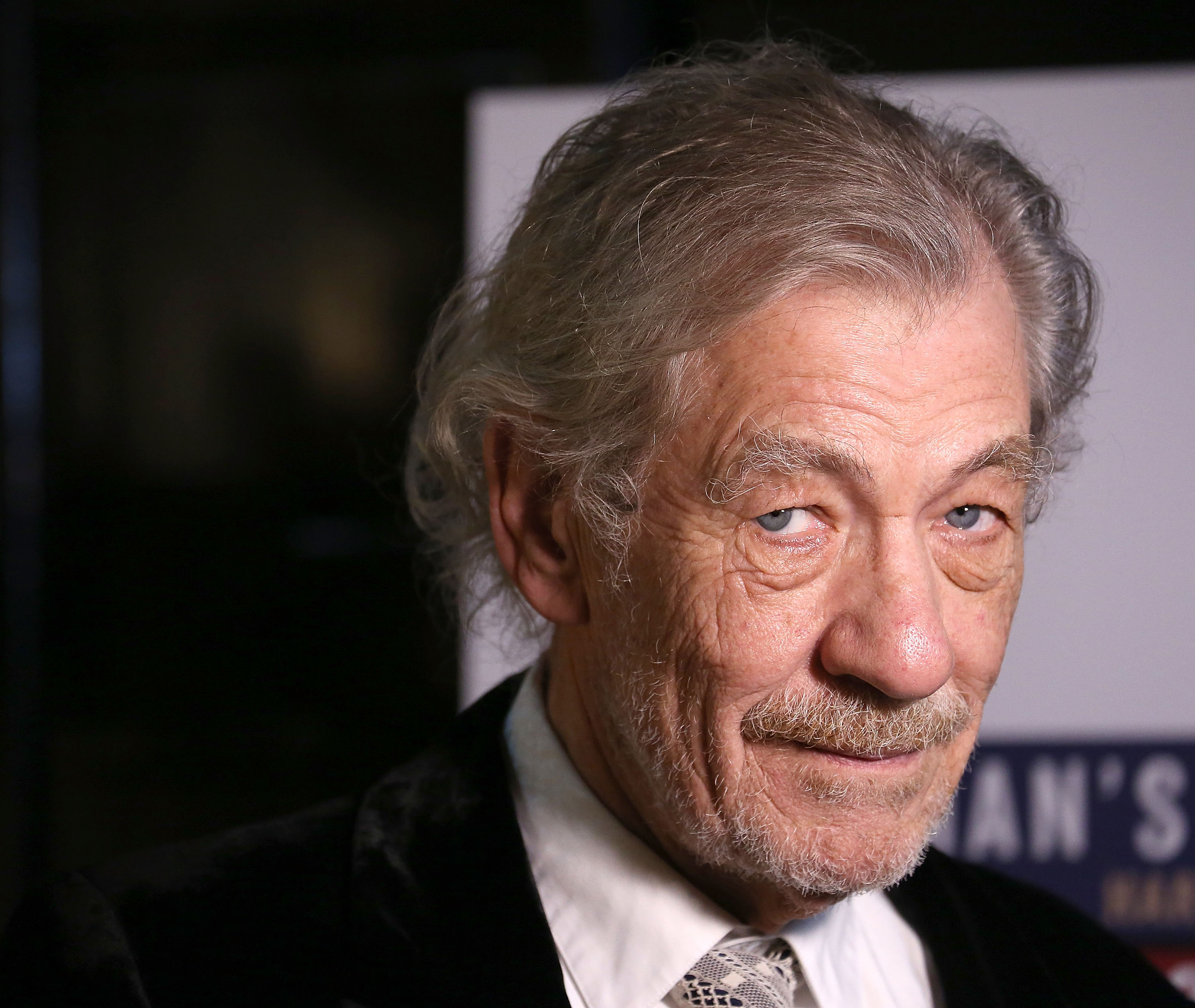 Sir Ian McKellen attends the  No Man's Land  &  Waiting For Godot  Opening Night after party at the Bryant Park Grill in New York City on Nov. 24, 2013.