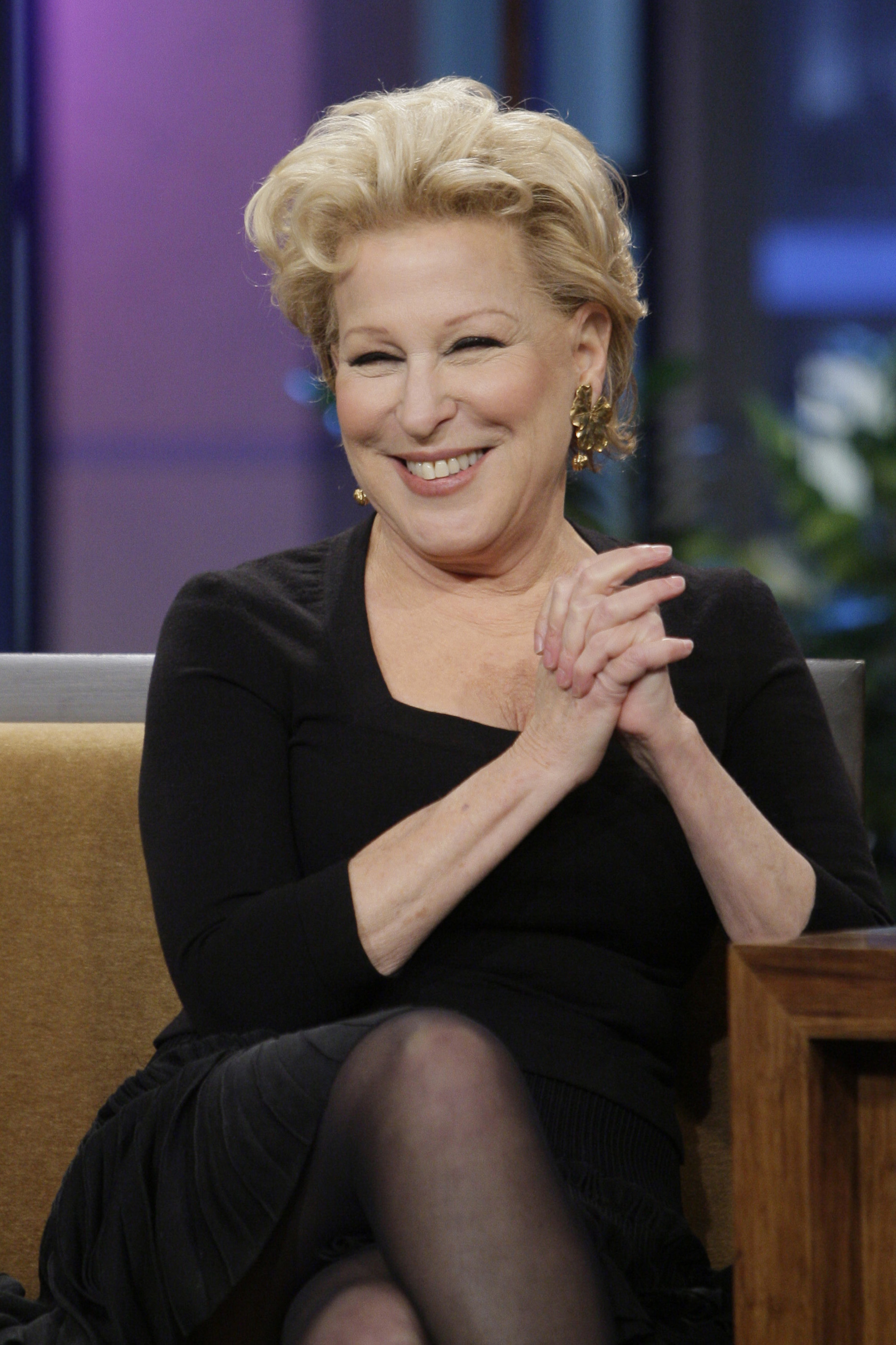 Bette Midler during an interview on November 25, 2013.