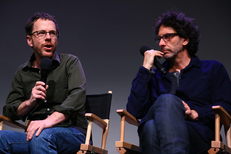 Ethan Coen and Joel Coen speak during Meet The Filmmakers:  Inside Llewyn Davis  at the Apple Store