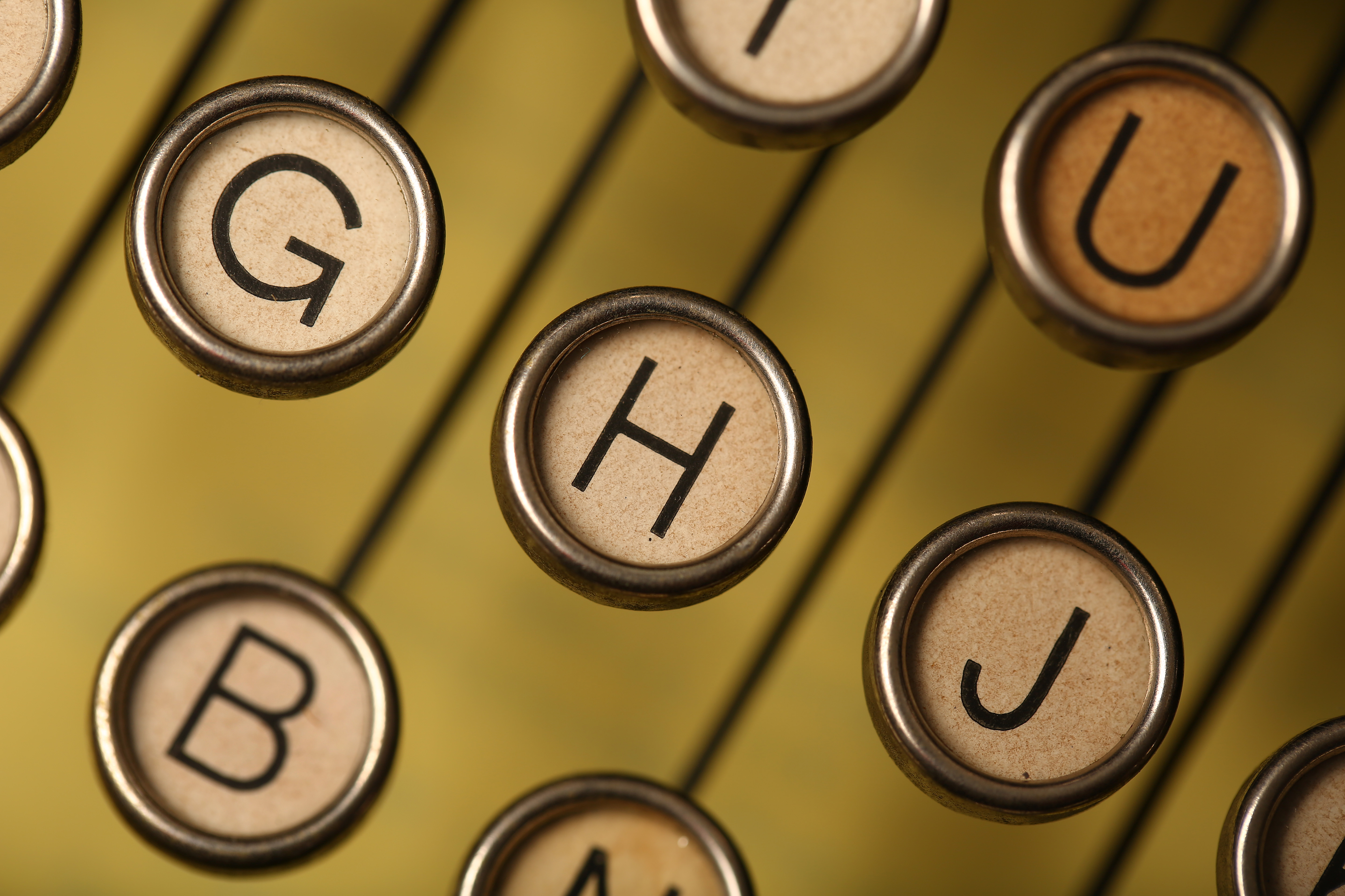These keys of a circa-1930 Royal portable are photographed on Thursday, August 14, 2014.