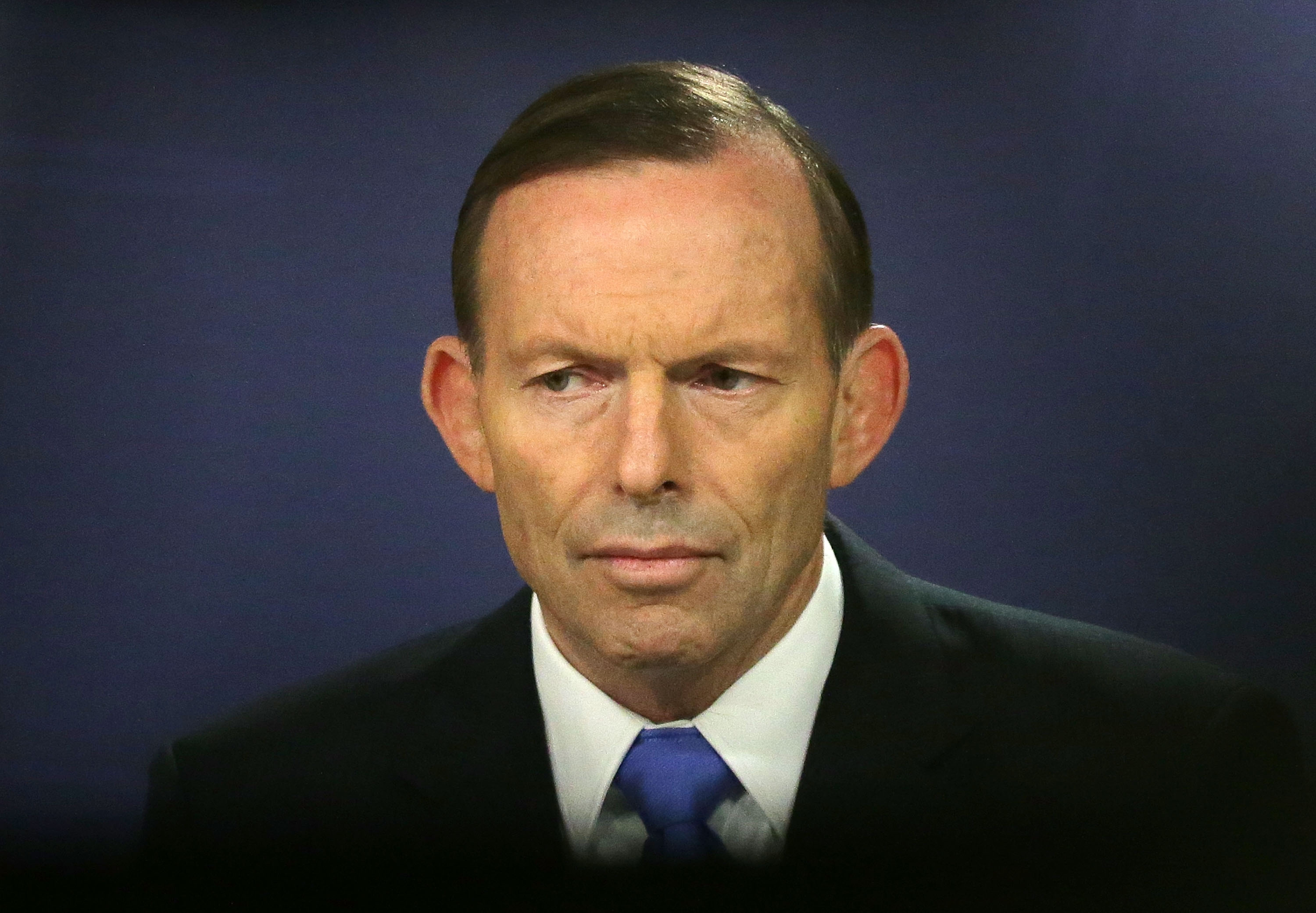 Prime Minister Tony Abbott speaks to the media at Sydney Commonwealth Parliamentary Offices on September 19, 2014 in Sydney, Australia.