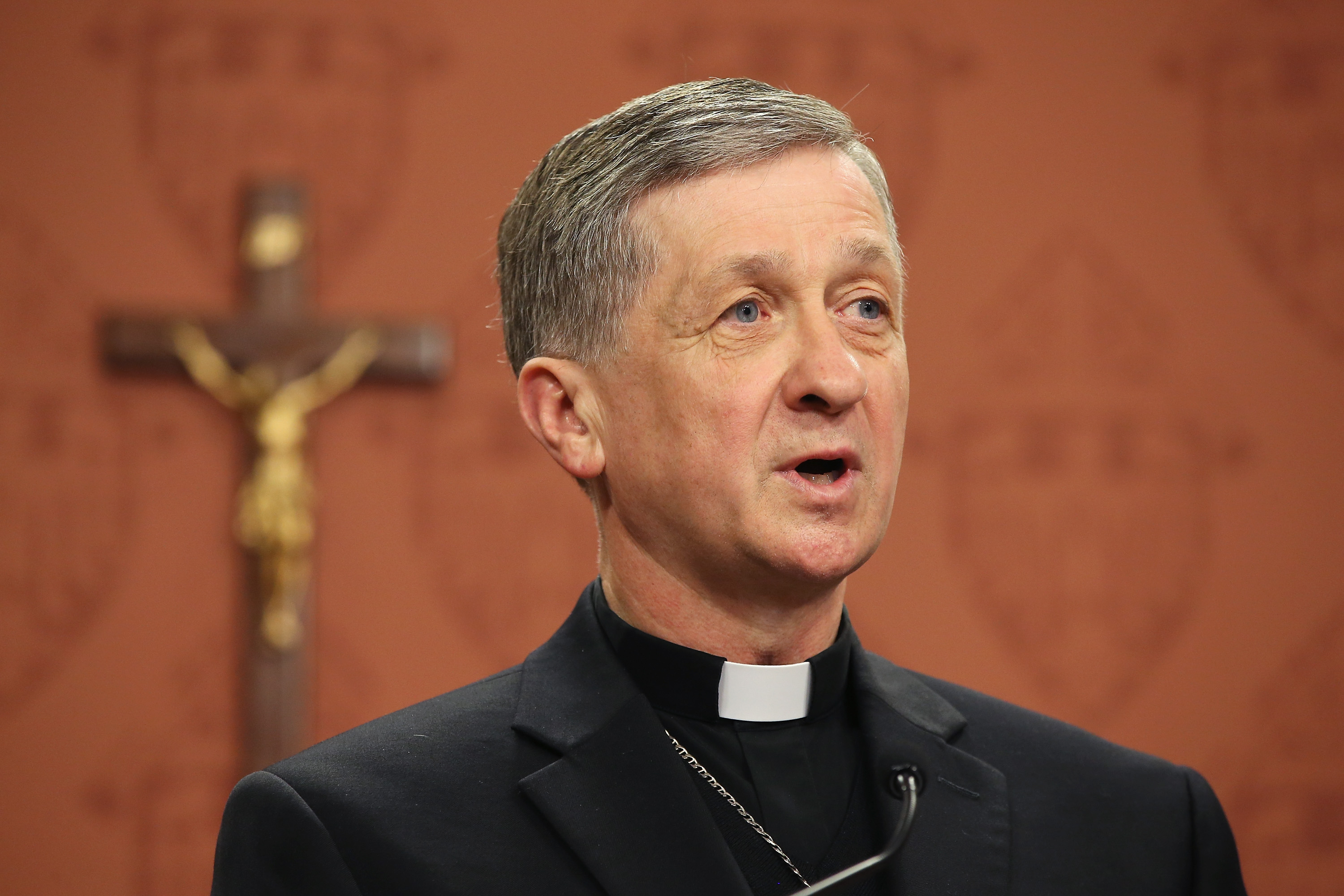 Archbishop-Elect Blase Cupich speaks to the press on September 20, 2014 in Chicago, Illinois.