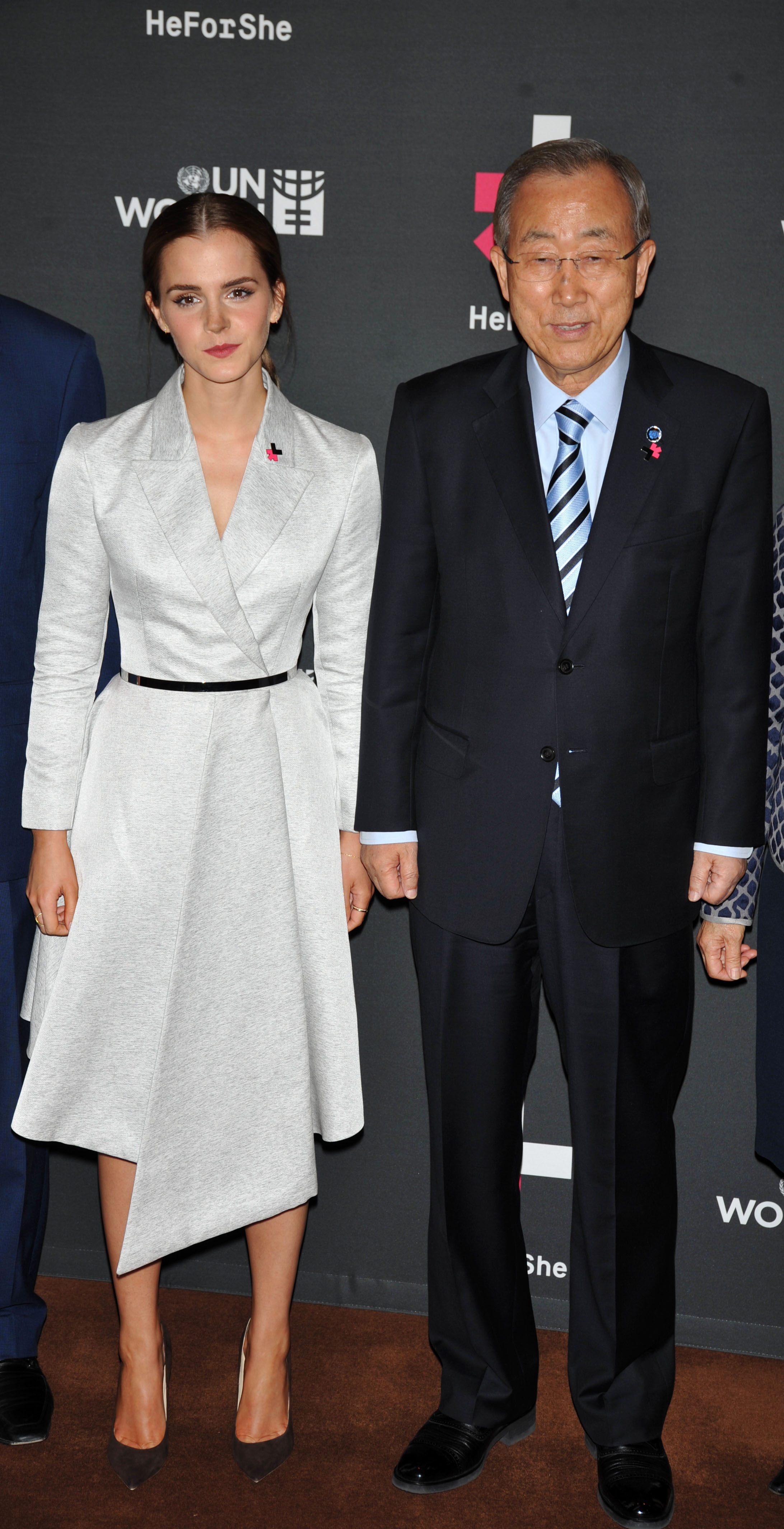 Emma Watson, Ban Ki-Moon attends the launch of the HeForShe Campaign at the United Nations on September 20, 2014 in New York City.  (Steve Sands--WireImage)