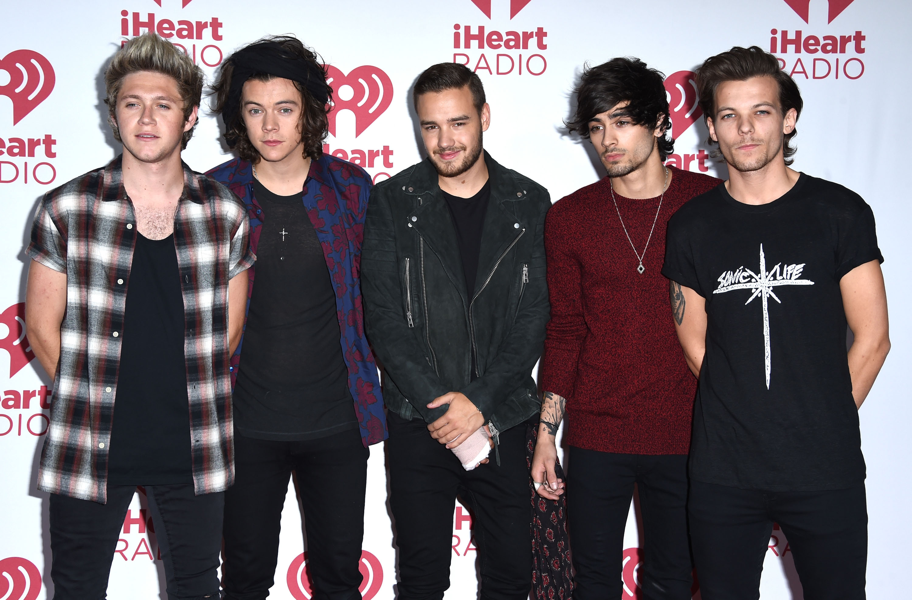 One Direction poses in the 2014 iHeartRadio Music Festival - Night 2