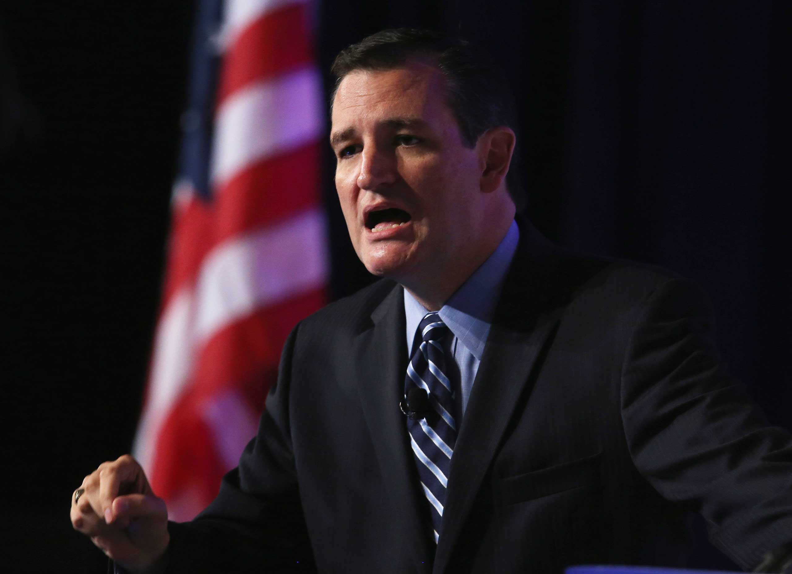 Sen. Ted Cruz (R-TX) speaks at the 2014 Values Voter Summit, Sept. 26, 2014 in Washington, DC.