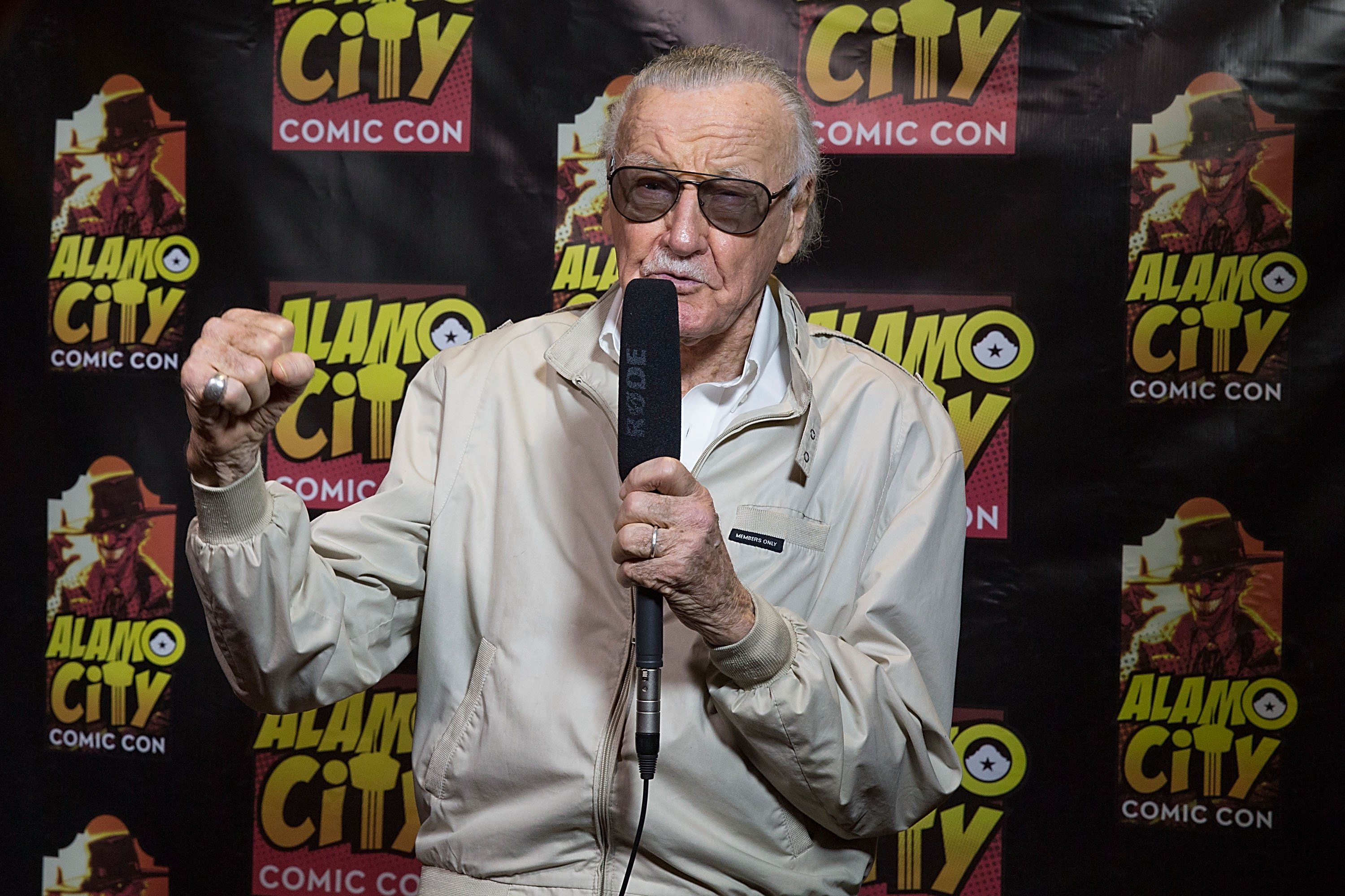 Comic book writer Stan Lee attends day one of the Alamo City Comic Con at the Henry B. Gonzalez Convention Center on September 26, 2014 in San Antonio, Texas.